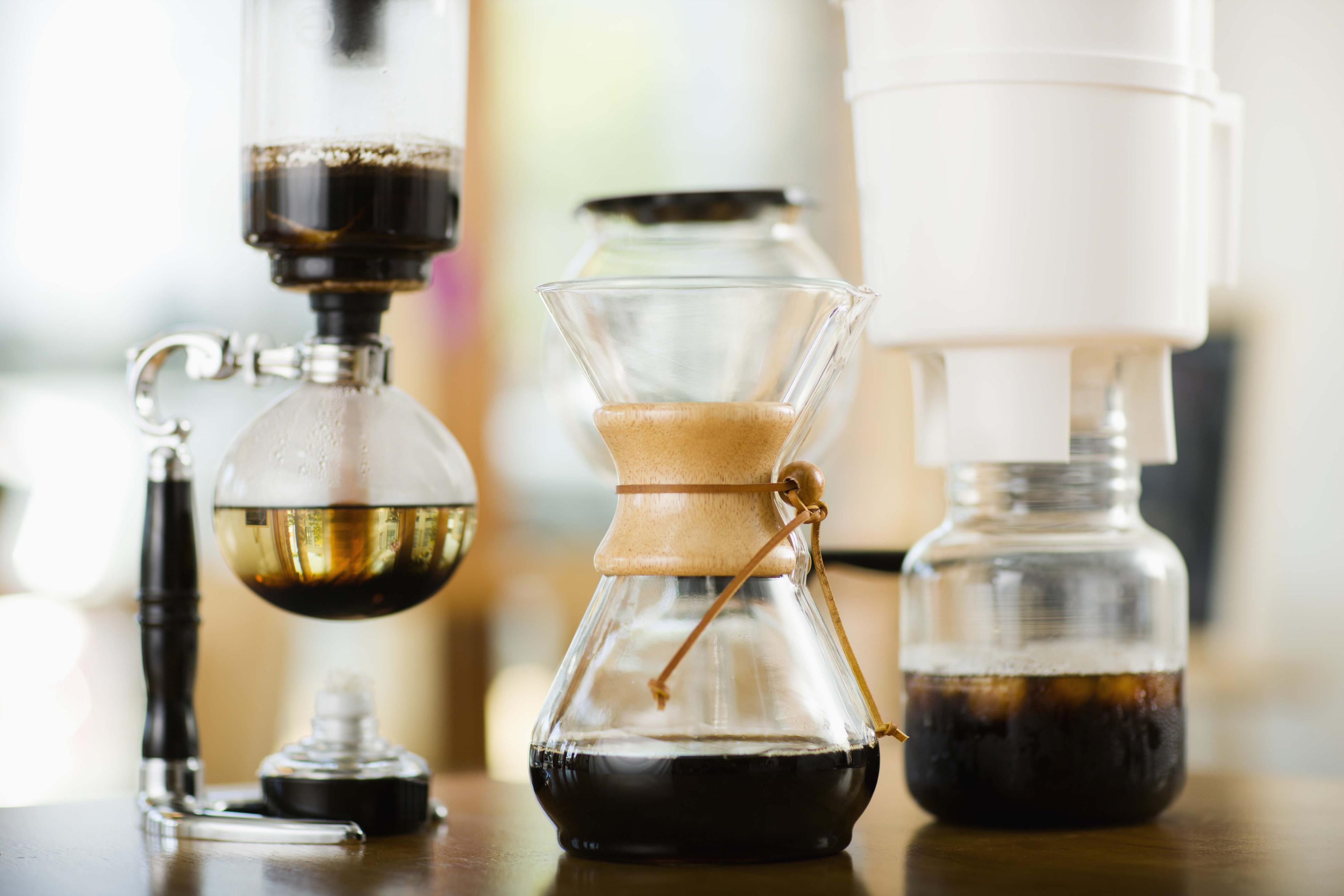 Chemex coffeemakers.