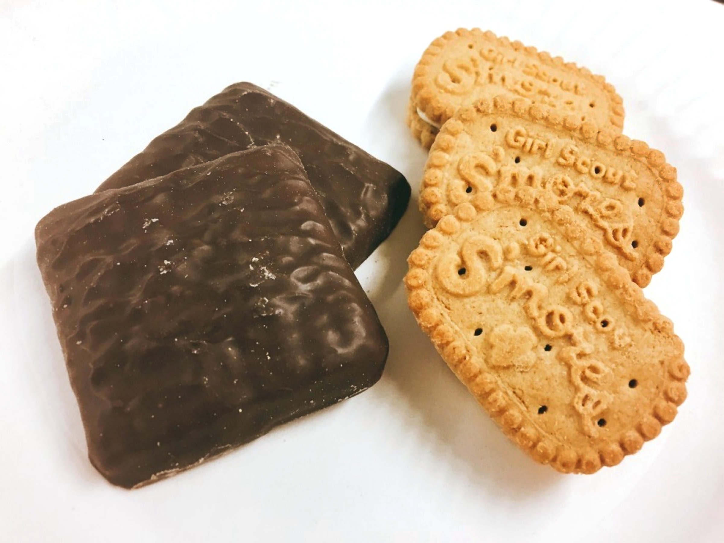 The new Smores Girl Scout cookies from the Girl Scouts two bakeries.