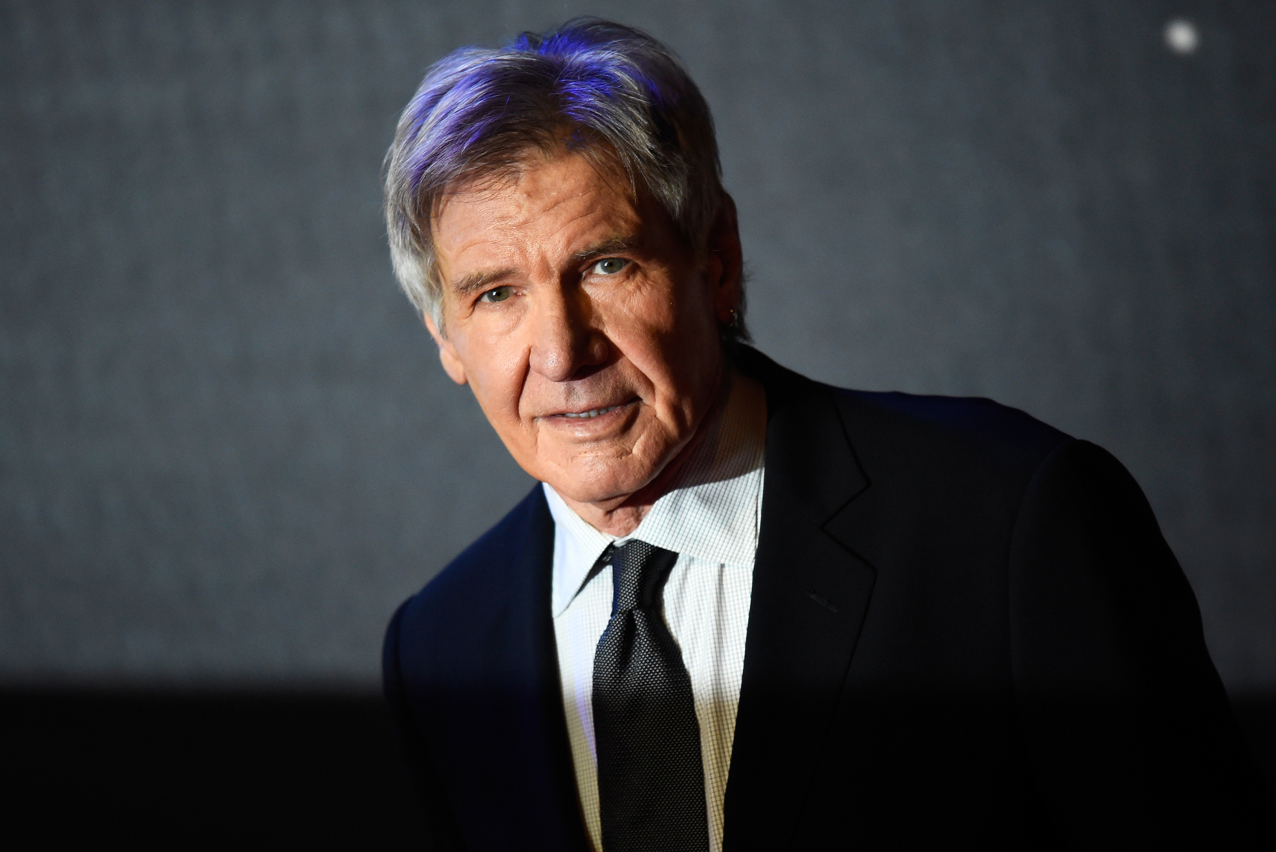 Harrison Ford arrives at the European Premiere of Star Wars, The Force Awakens in Leicester Square, London, on Dec. 16, 2015.