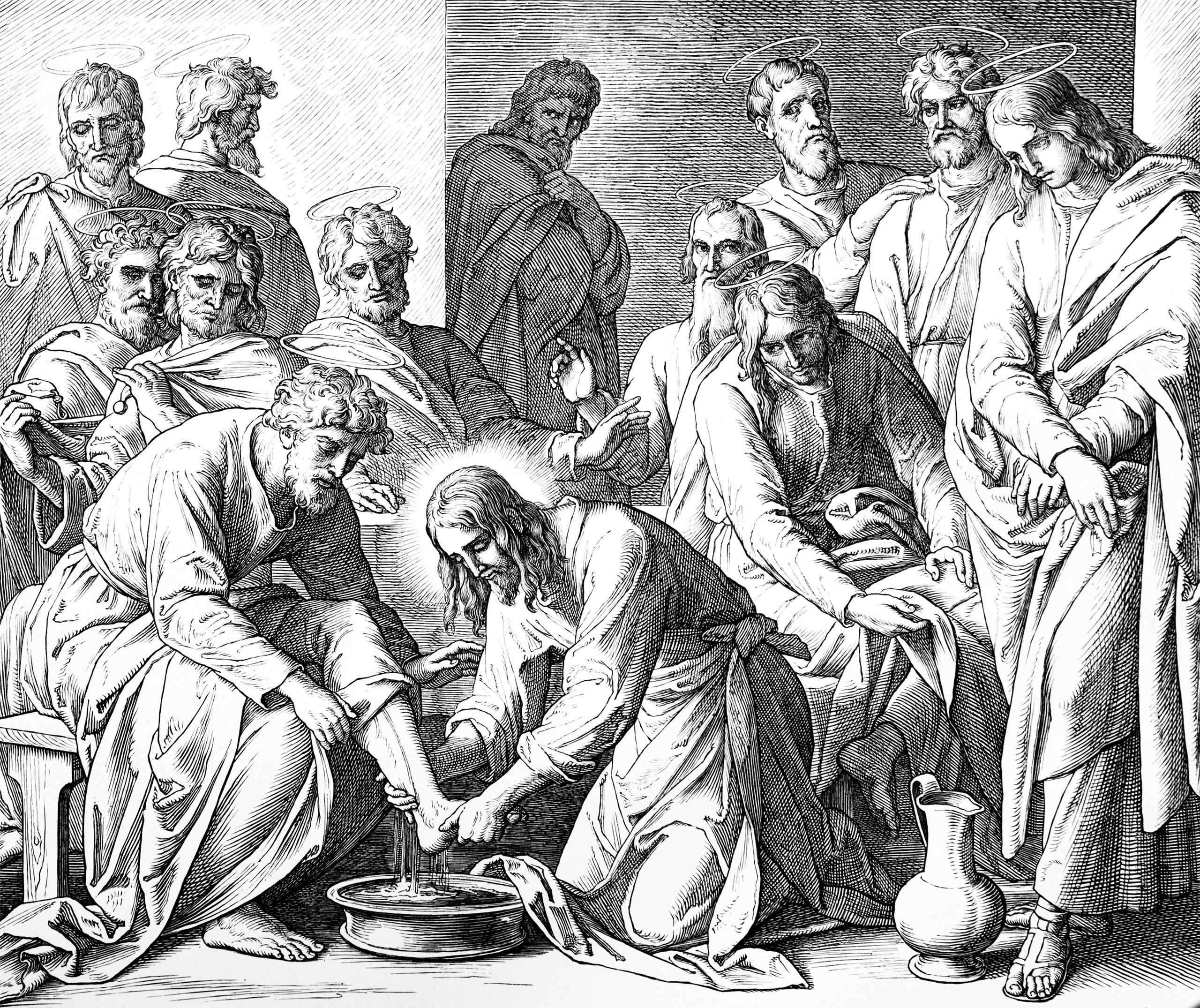 Jesus washes the Disciples' feet