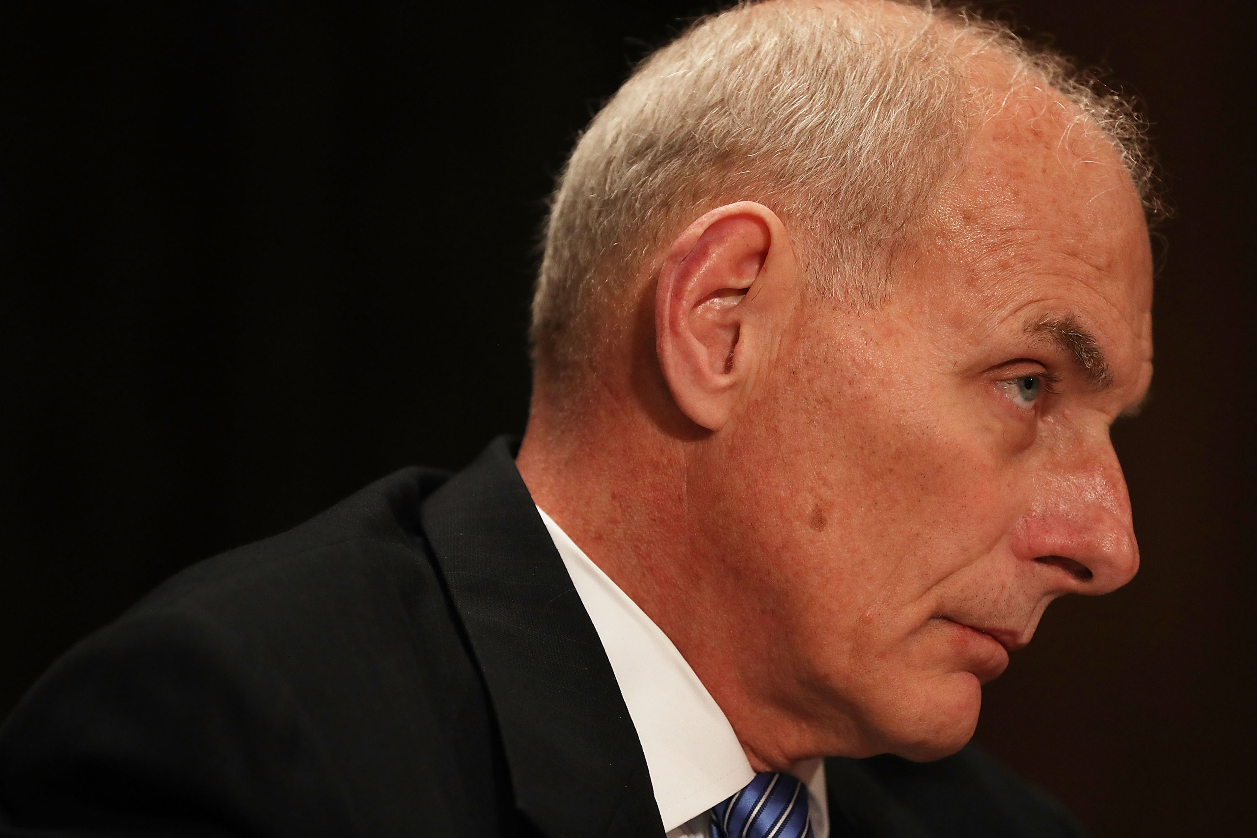 Retired Marine Gen. John Kelly attends his confirmation hearing in front of the Senate Homeland Security and Governmental Affairs Committee to run the Department of Homeland Security in Washington on Jan.10, 2017.