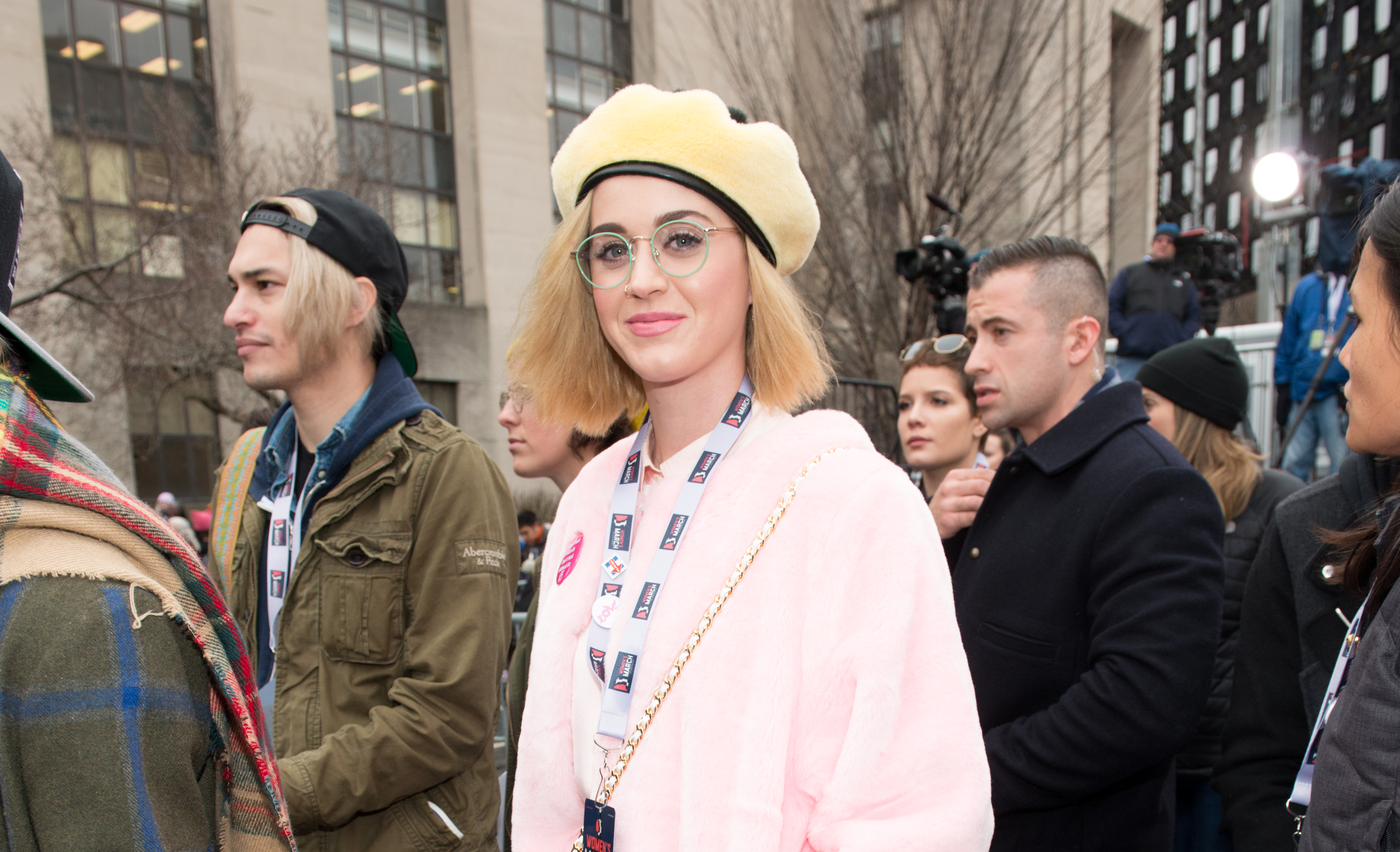 WASHINGTON, DC - JANUARY 21:  Katy Perry attends the Women's March on Washington on January 21, 2017 in Washington, DC.  (Photo by Noam Galai/WireImage)