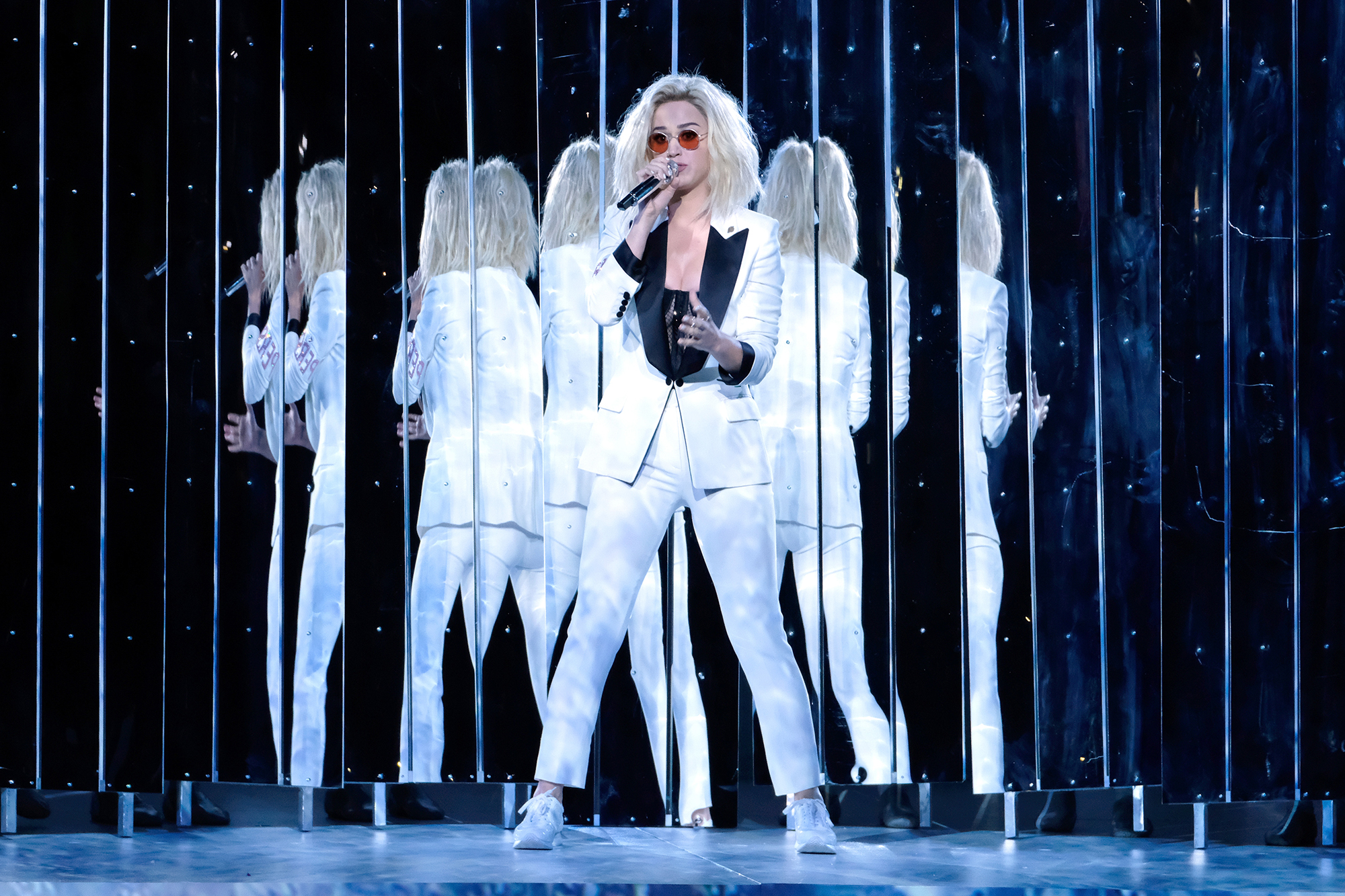 Katy Perry performs during the 59th GRAMMY Awards at STAPLES Center, on Feb. 12, 2017 in Los Angeles.