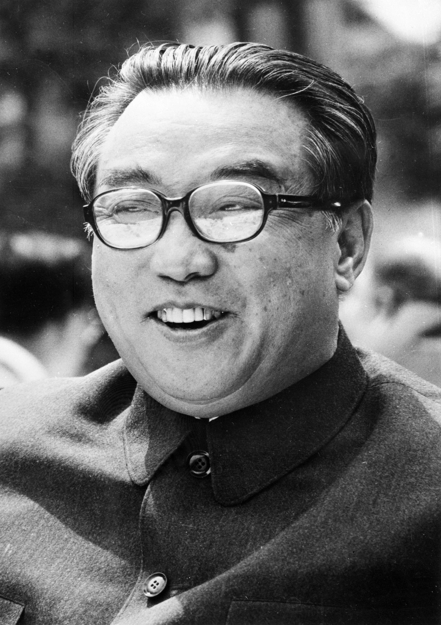An image of North Korean Leader Kim Il Sung dated July 1976.