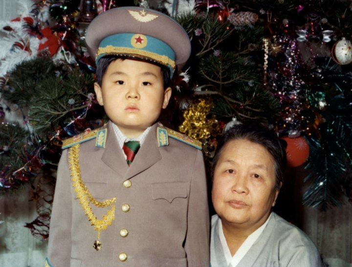 Kim Jong-Nam dressed in an army uniform poses with