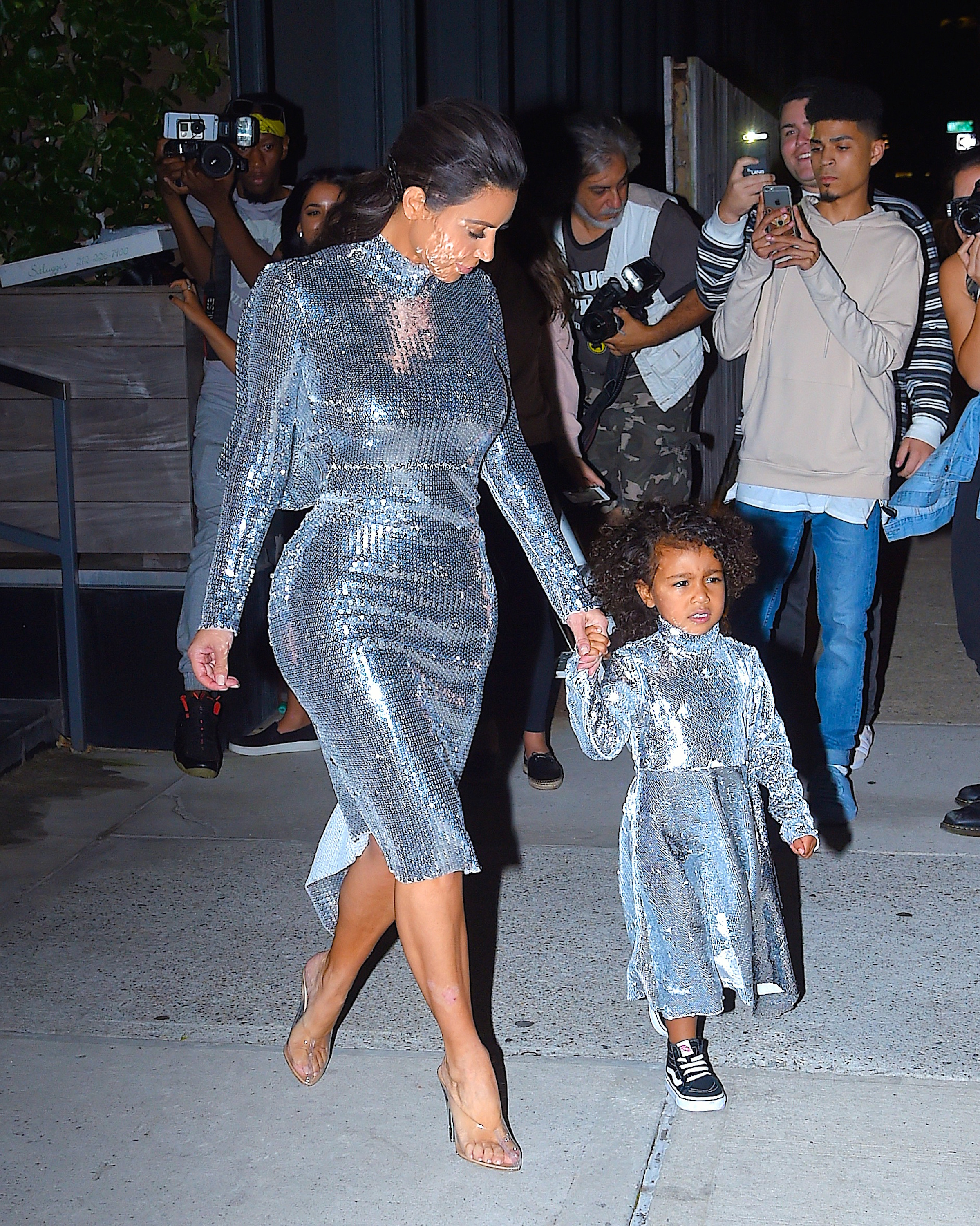 NEW YORK, NY - SEPTEMBER 05: Kim Kardashian and North West seen in Manhattan on September 5, 2016 in New York City. (Photo by Robert Kamau/GC Images)