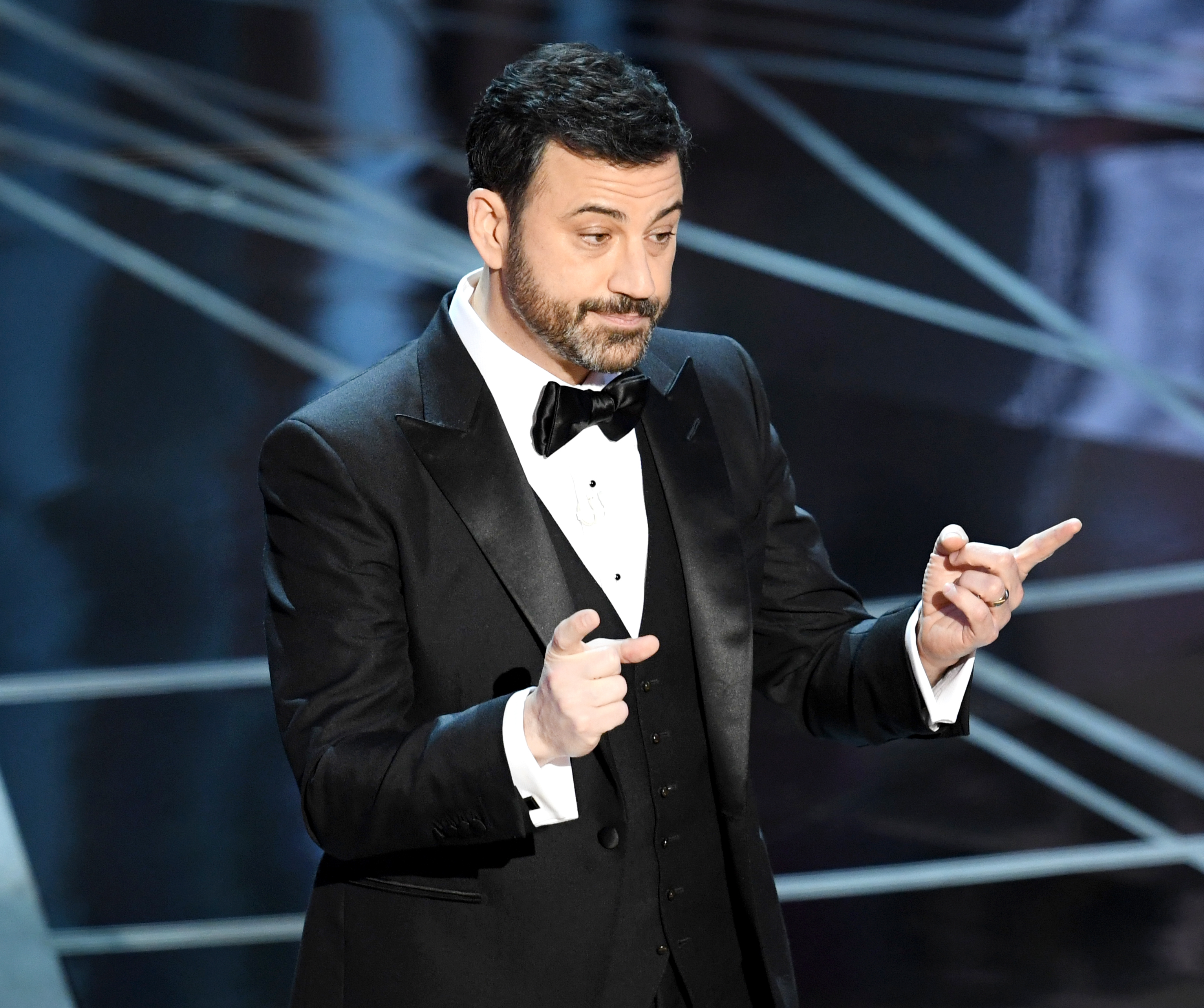 Host Jimmy Kimmel speaks onstage during the 89th Annual Academy Awards at Hollywood & Highland Center on February 26, 2017 in Hollywood, California.