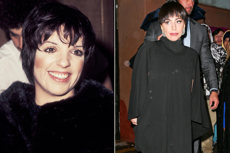 Liza Minelli, 1977; Lady Gaga, 2014.
