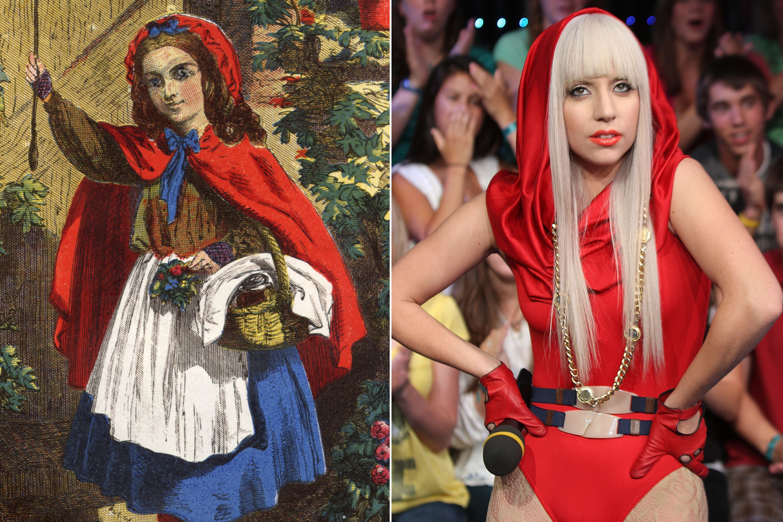 Little Red Riding Hood, c. 1812; Lady Gaga, 2008.
