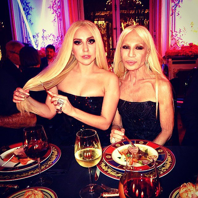 Lady Gaga & Donatella Versace, 2014.