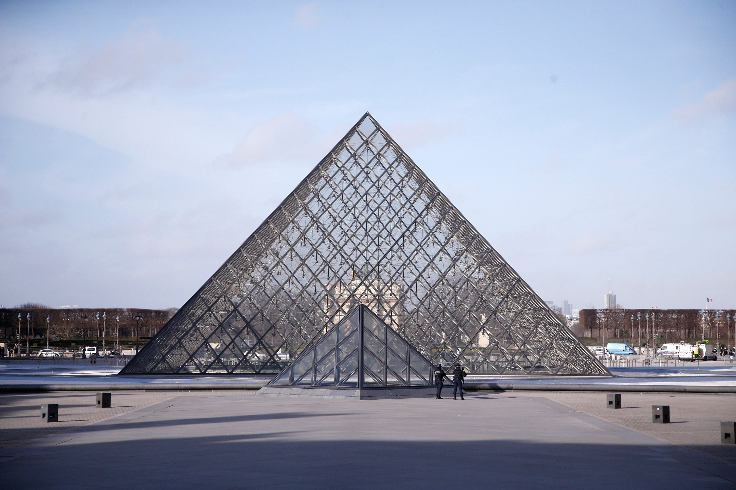 The Louvre Pyramid, one of I.M. Pei's greatest designs.