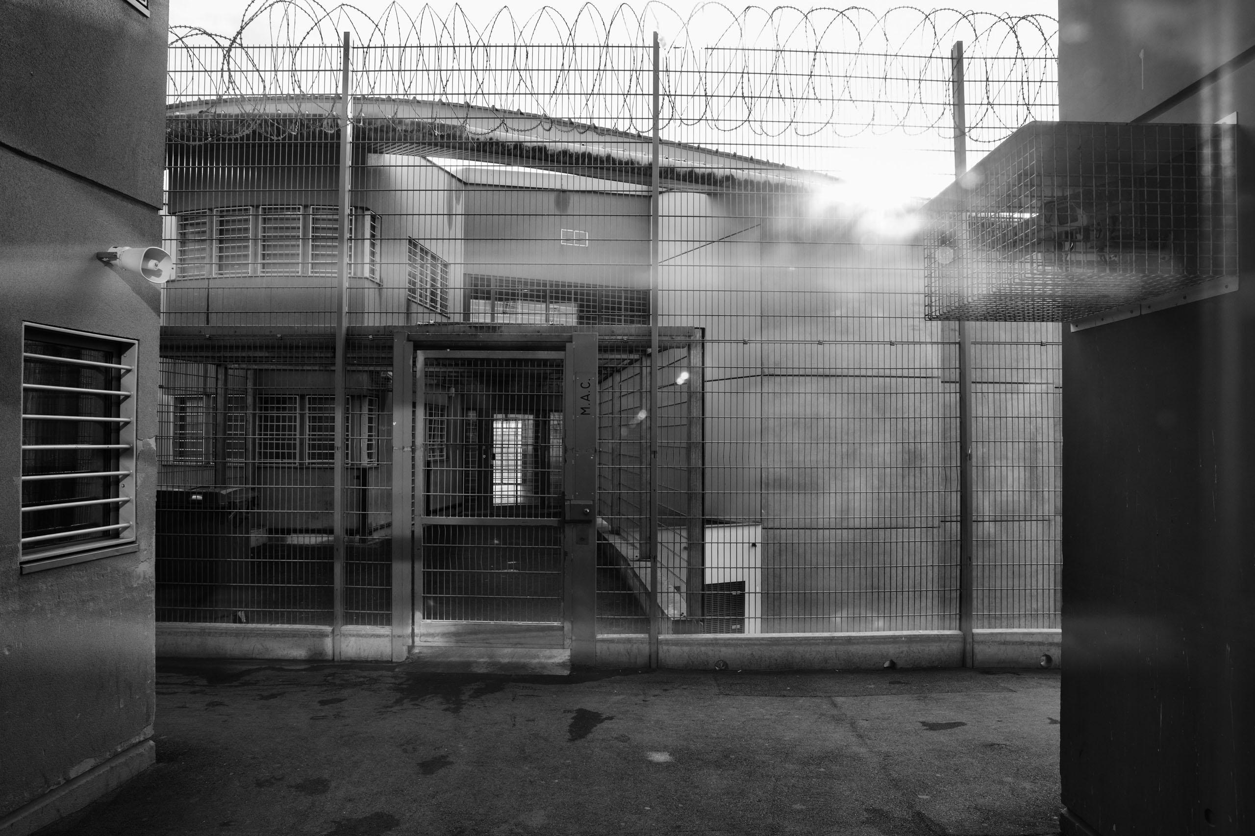 The Meaux-Chauconin penitentiary entrance, outside Paris, France, Nov. 23, 2016.