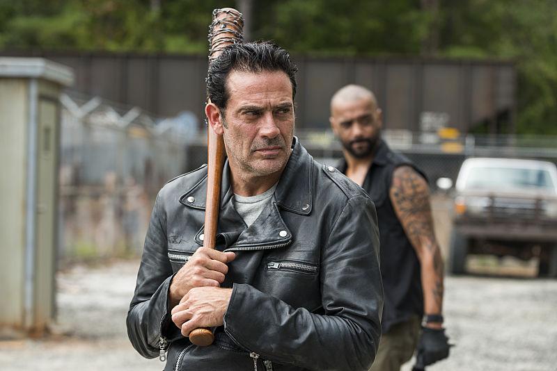 Jeffrey Dean Morgan as Negan in The Walking Dead Season 7, Episode 11