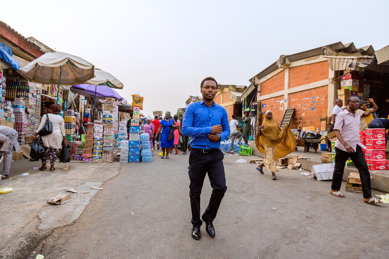 Oscar Ekponimo photographed for Time in Abuja, Nigeria on Feb. 15, 2017.