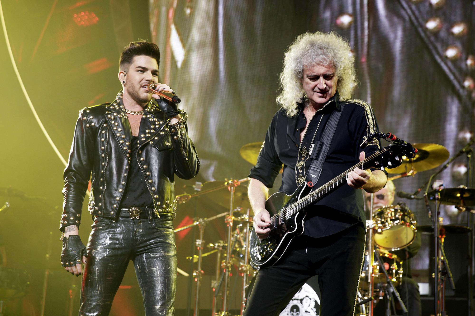 Queen + Adam Lambert perform on Jan. 29, 2015 in Indianapolis, Ind.