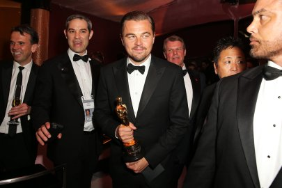 Leonardo DiCaprio at the 88th Annual Academy Awards, Governor's Ball in Los Angeles, on Feb. 28, 2016.