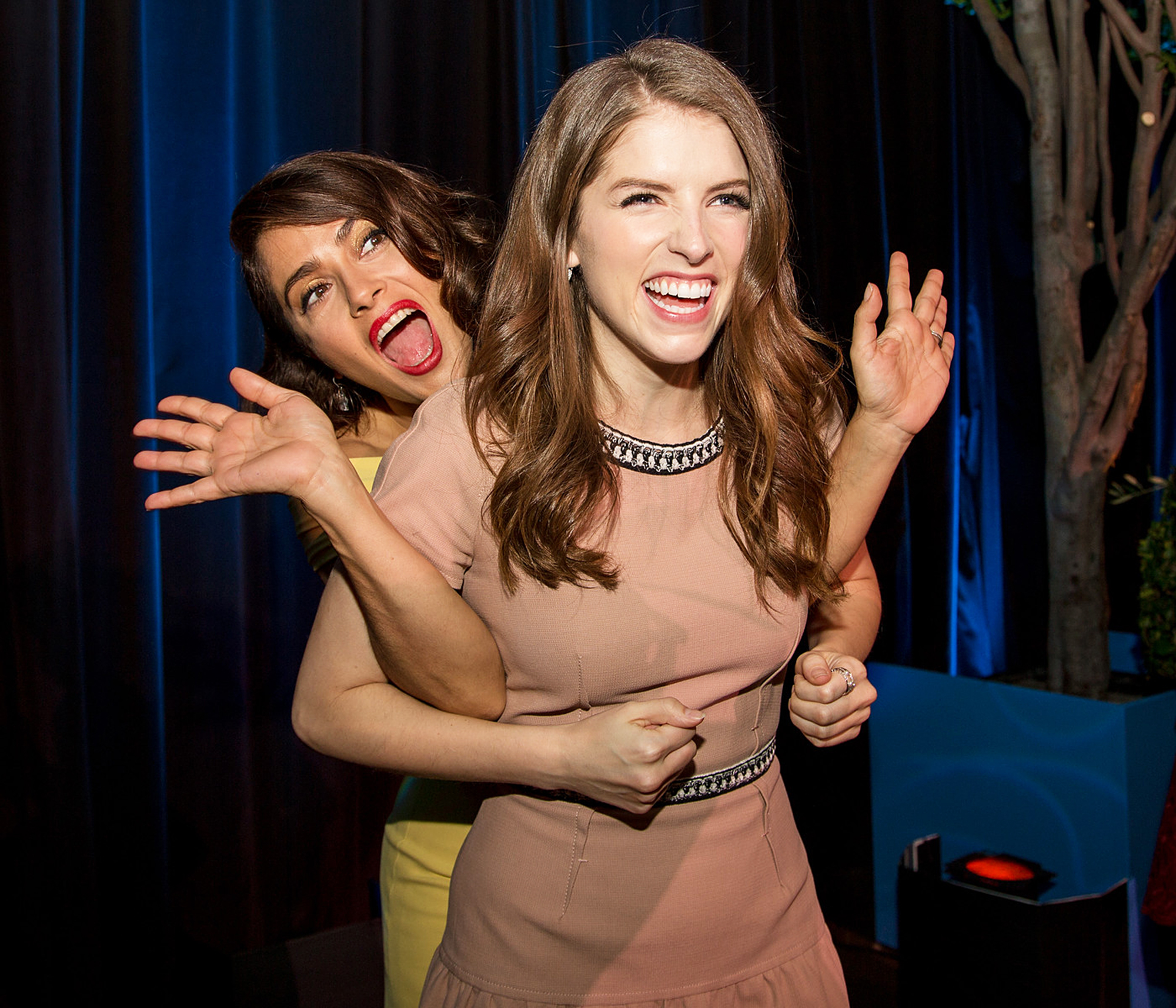Salma Hayek, Anna Kendrick at Variety's Power of Women in Los Angeles, on Oct. 9, 2015.
