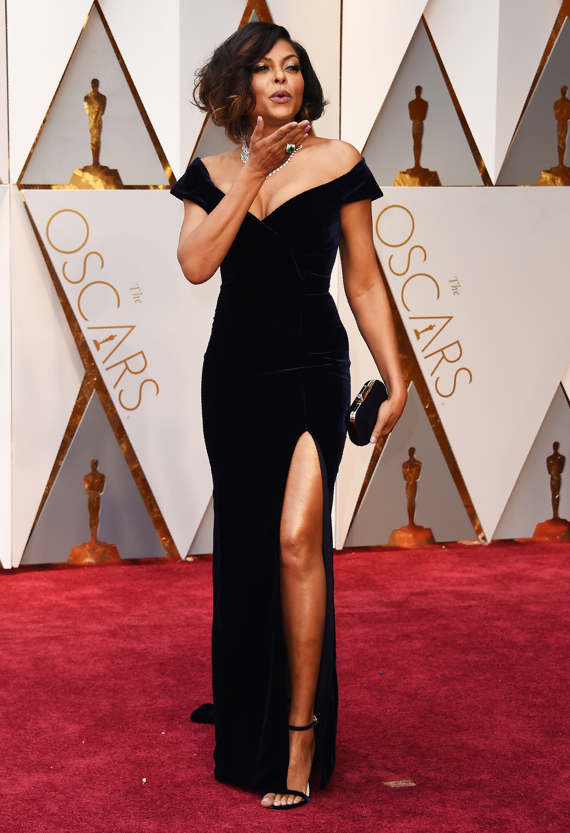 Taraji P. Henson on the red carpet for the 89th Oscars, on Feb. 26, 2017 in Hollywood, Calif.