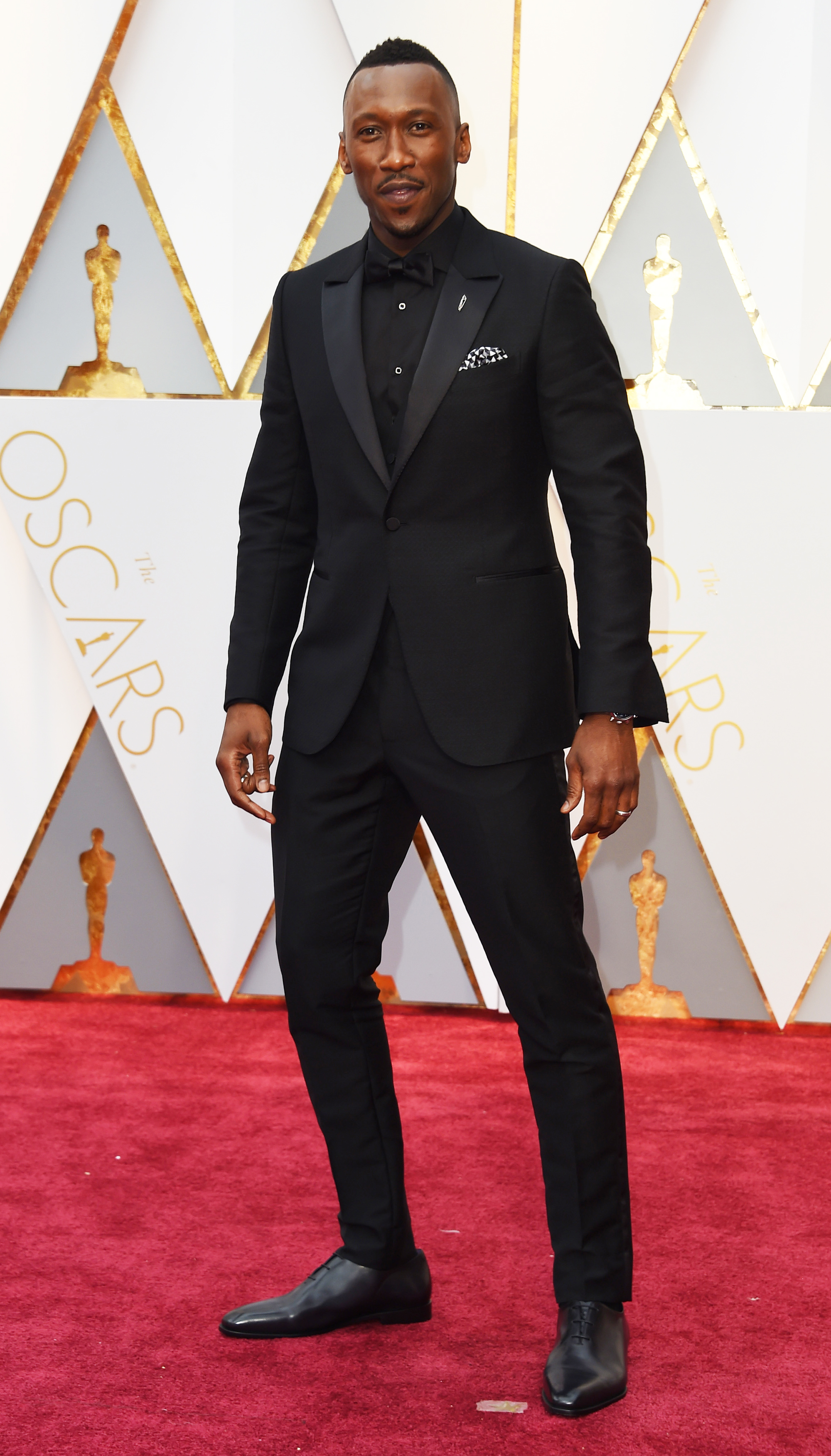 Mahershala Ali on the red carpet for the 89th Oscars, on Feb. 26, 2017 in Hollywood, Calif.