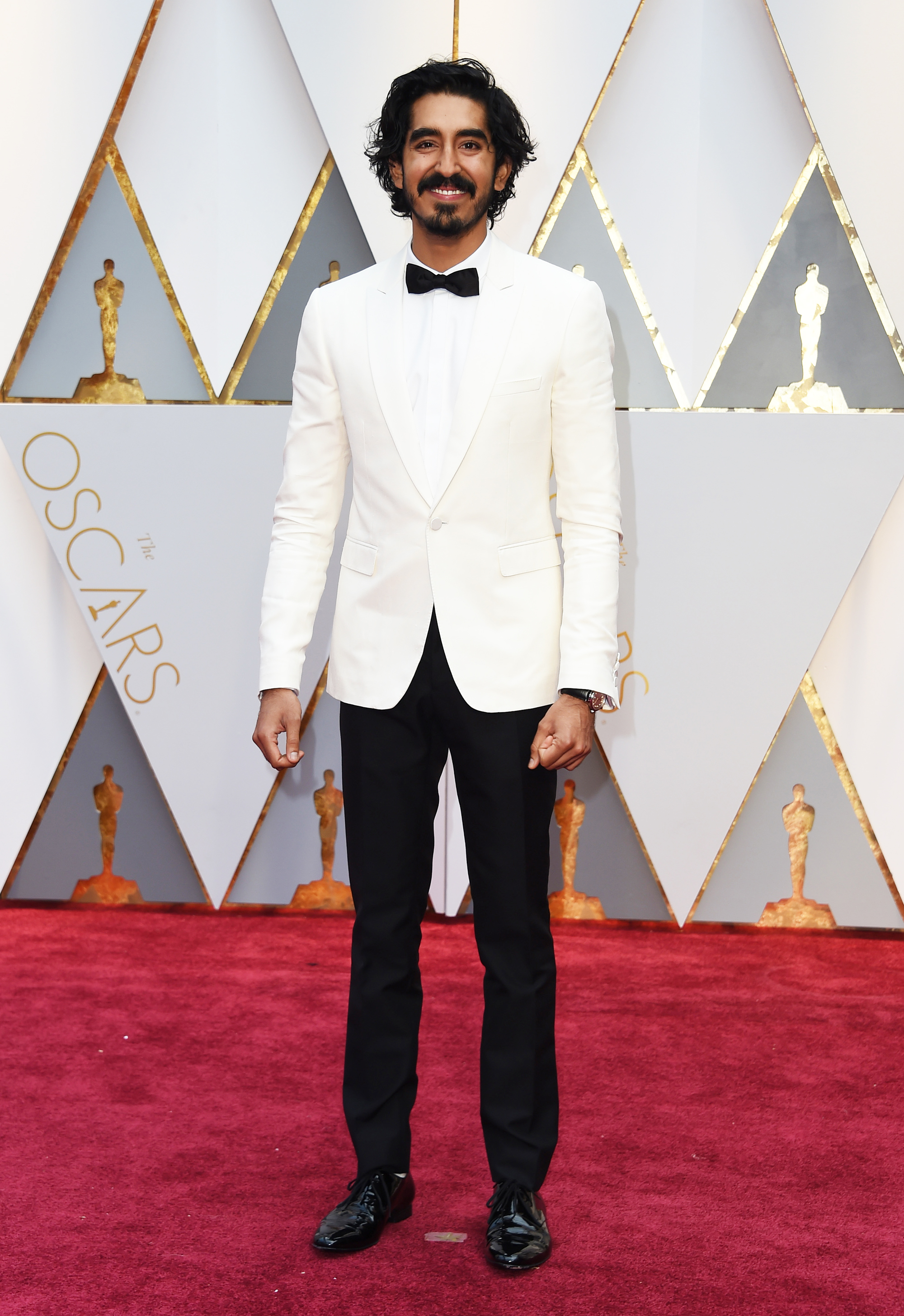 Dev Patel on the red carpet for the 89th Oscars, on Feb. 26, 2017 in Hollywood, Calif.