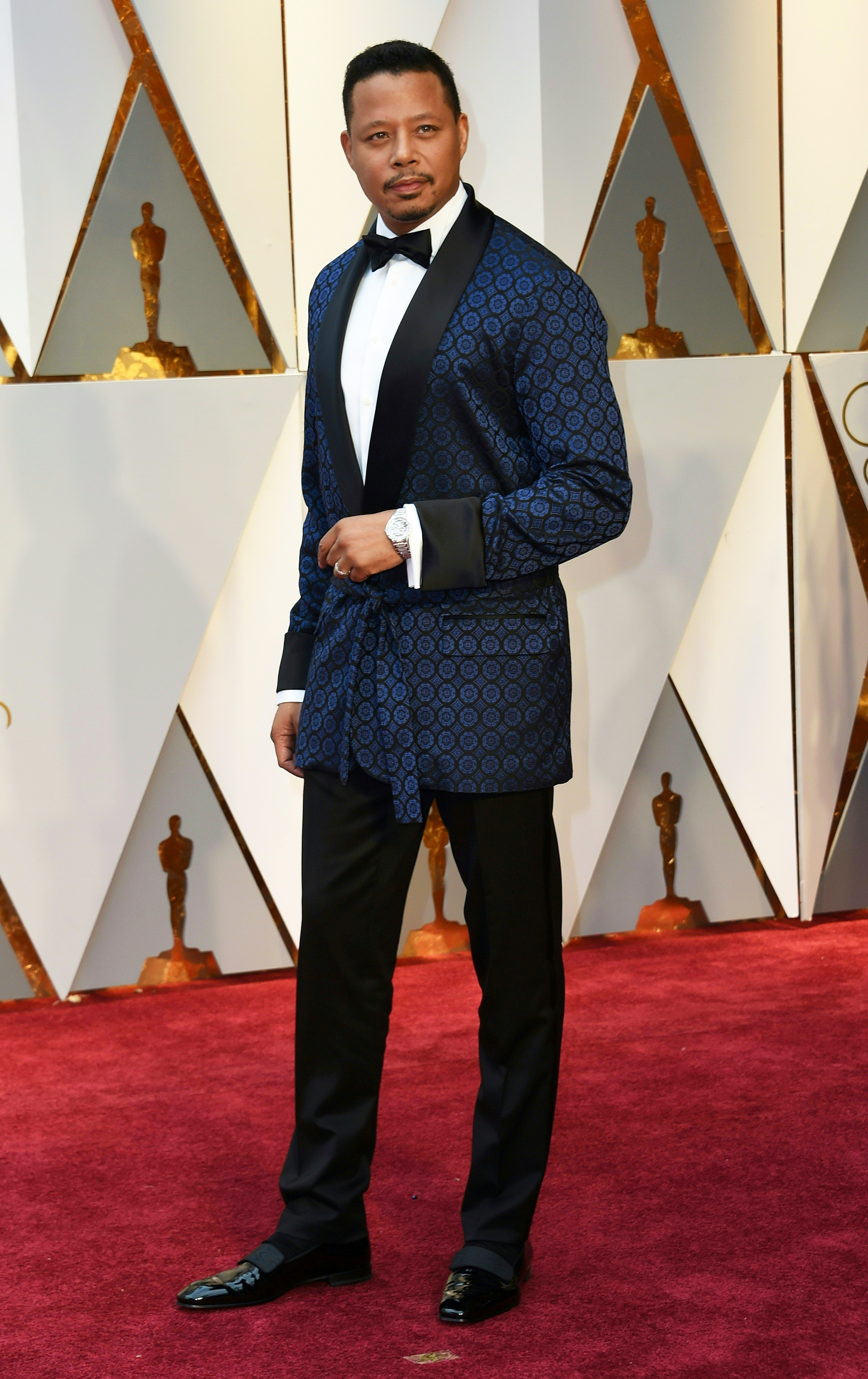 Terrence Howard on the red carpet for the 89th Oscars, on Feb. 26, 2017 in Hollywood, Calif.