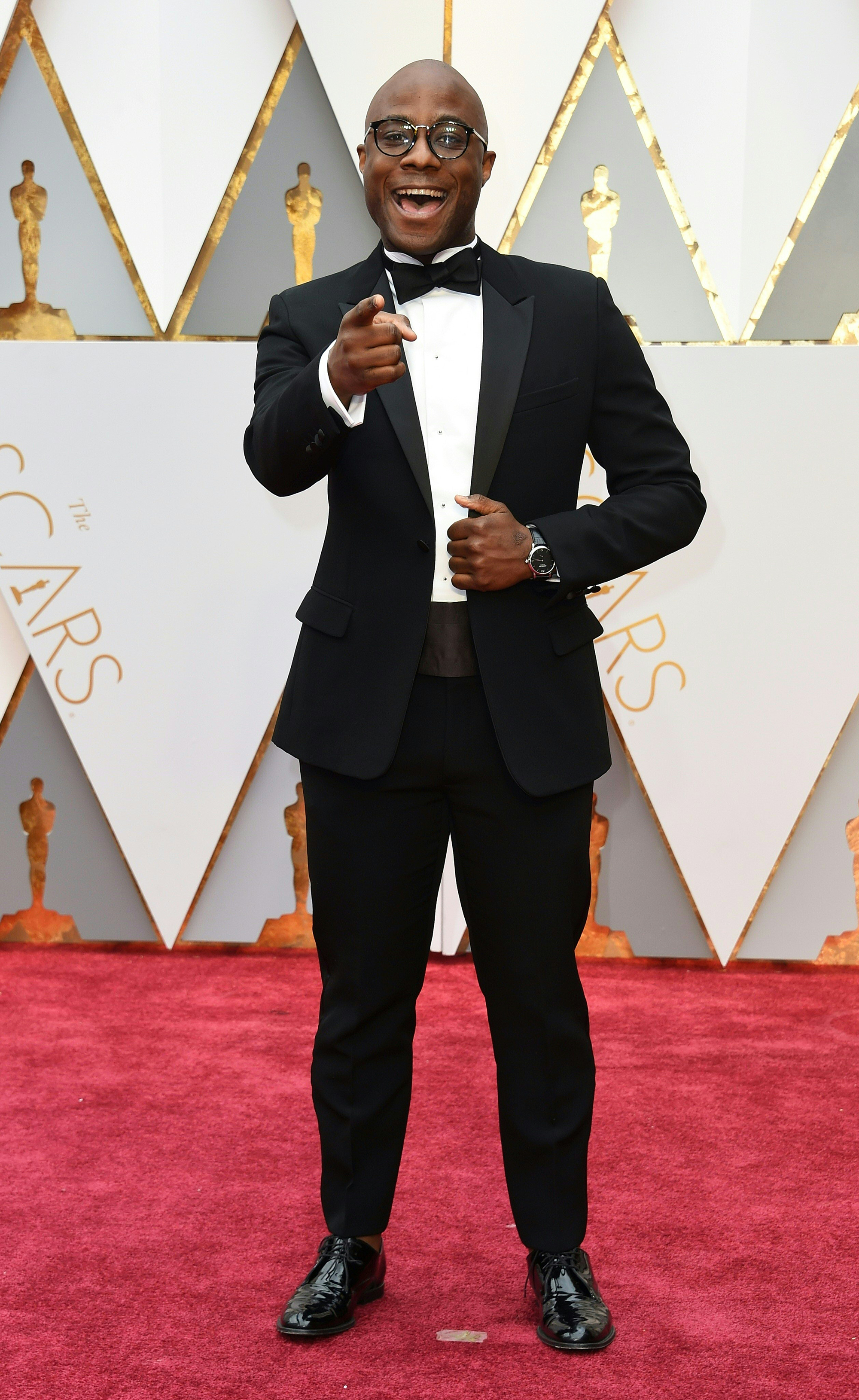 Barry Jenkins on the red carpet for the 89th Oscars, on Feb. 26, 2017 in Hollywood, Calif.