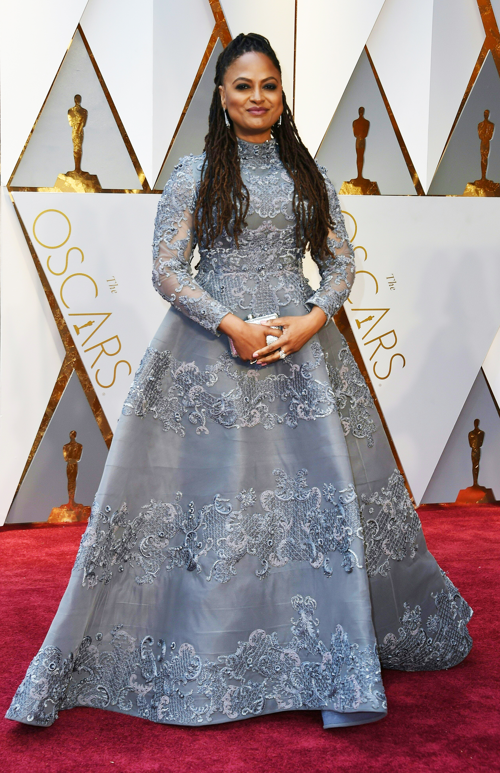 Ava DuVernay on the red carpet for the 89th Oscars, on Feb. 26, 2017 in Hollywood, Calif.