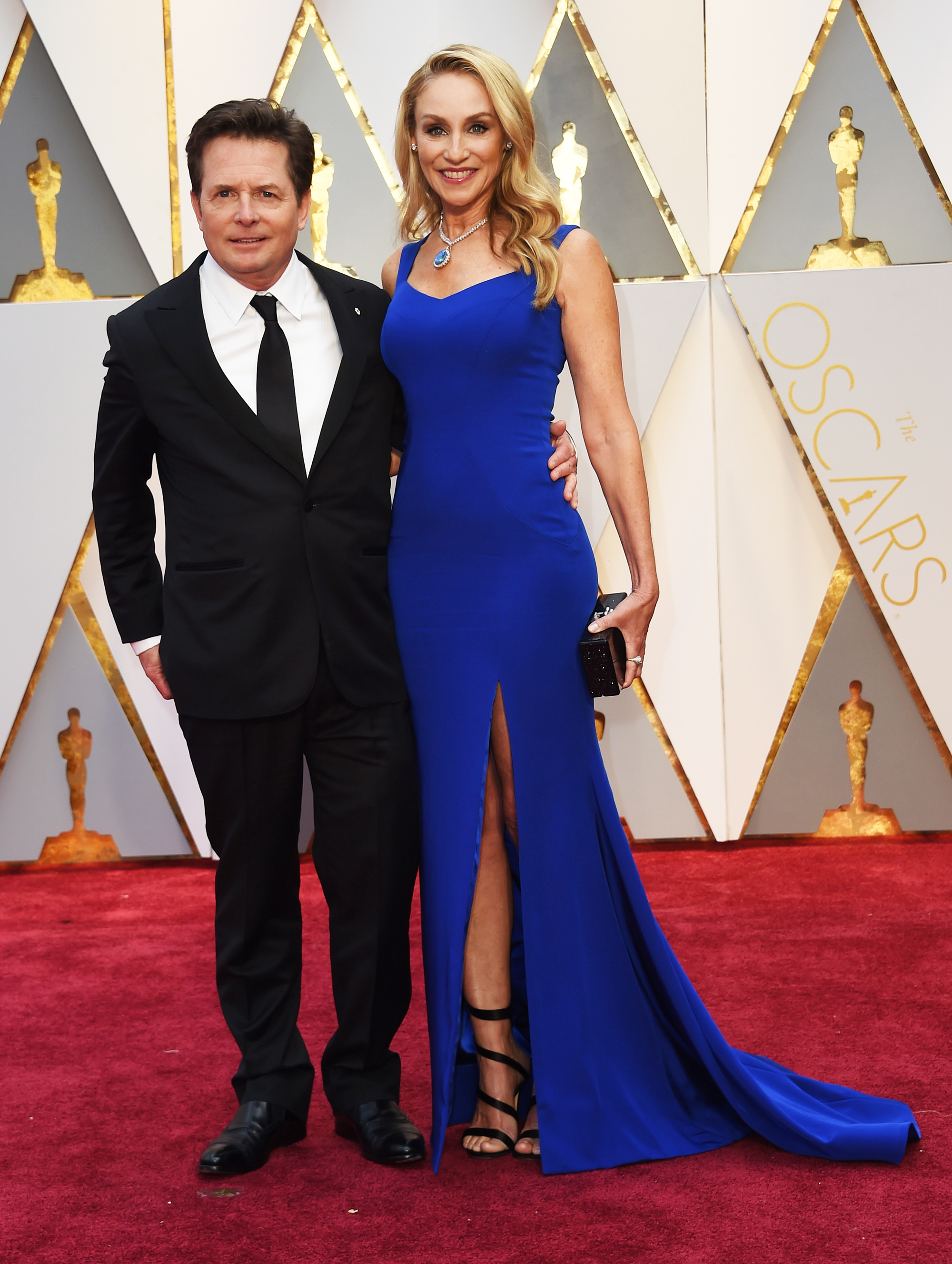 Michael J. Fox and Tracy Pollan on the red carpet for the 89th Oscars, on Feb. 26, 2017 in Hollywood, Calif.