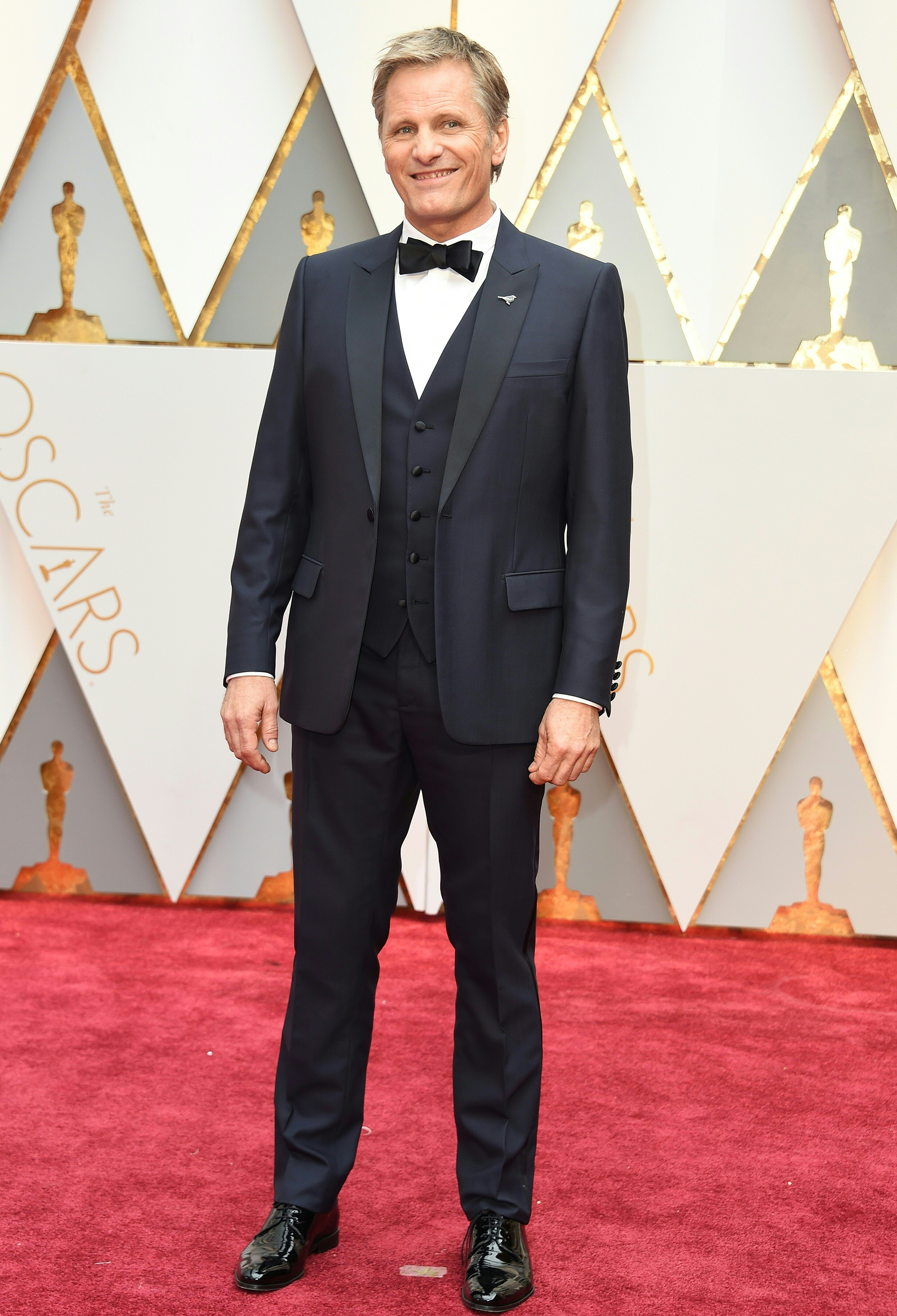 Viggo Mortensen on the red carpet for the 89th Oscars, on Feb. 26, 2017 in Hollywood, Calif.