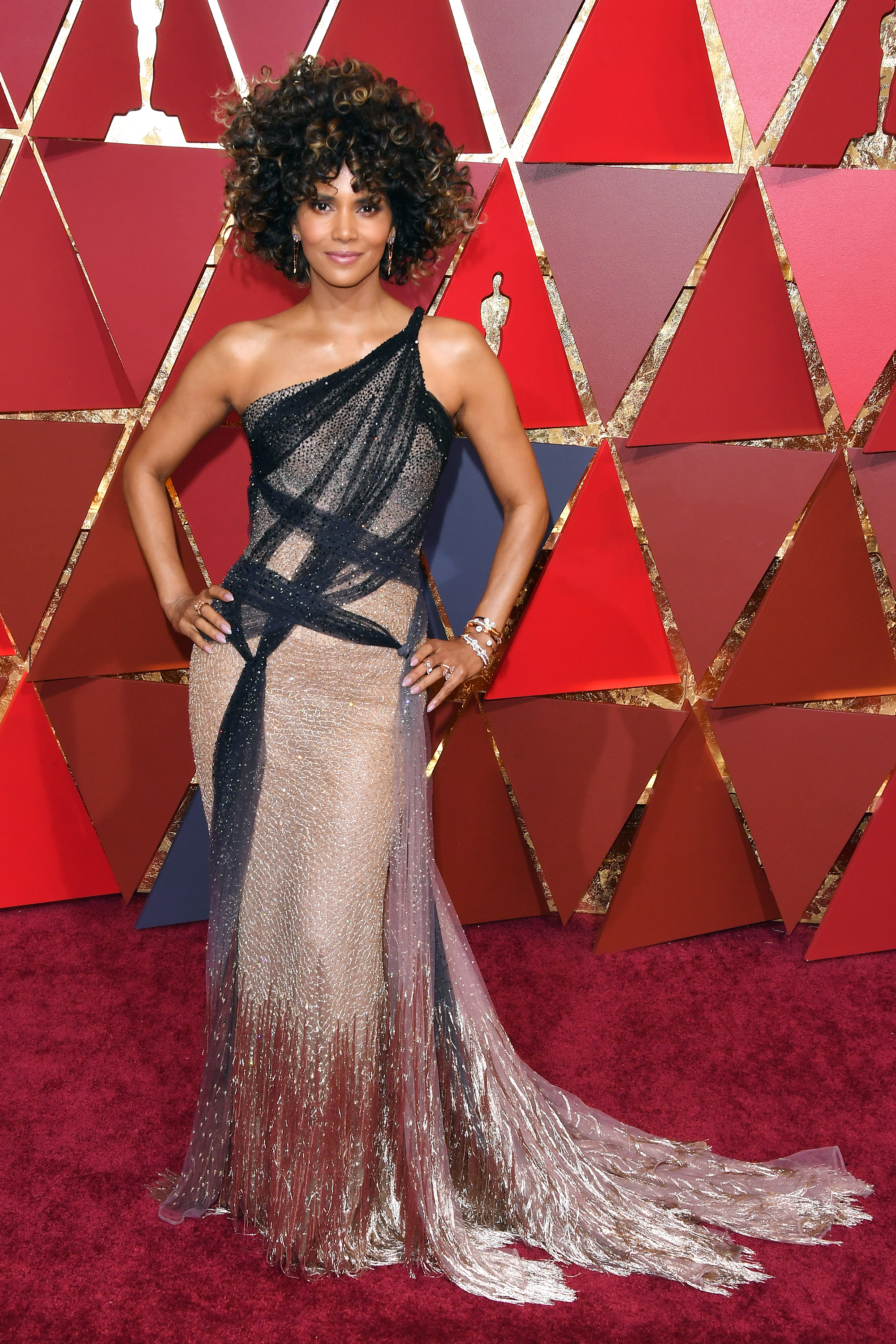 Halle Berry on the red carpet for the 89th Oscars, on Feb. 26, 2017 in Hollywood, Calif.