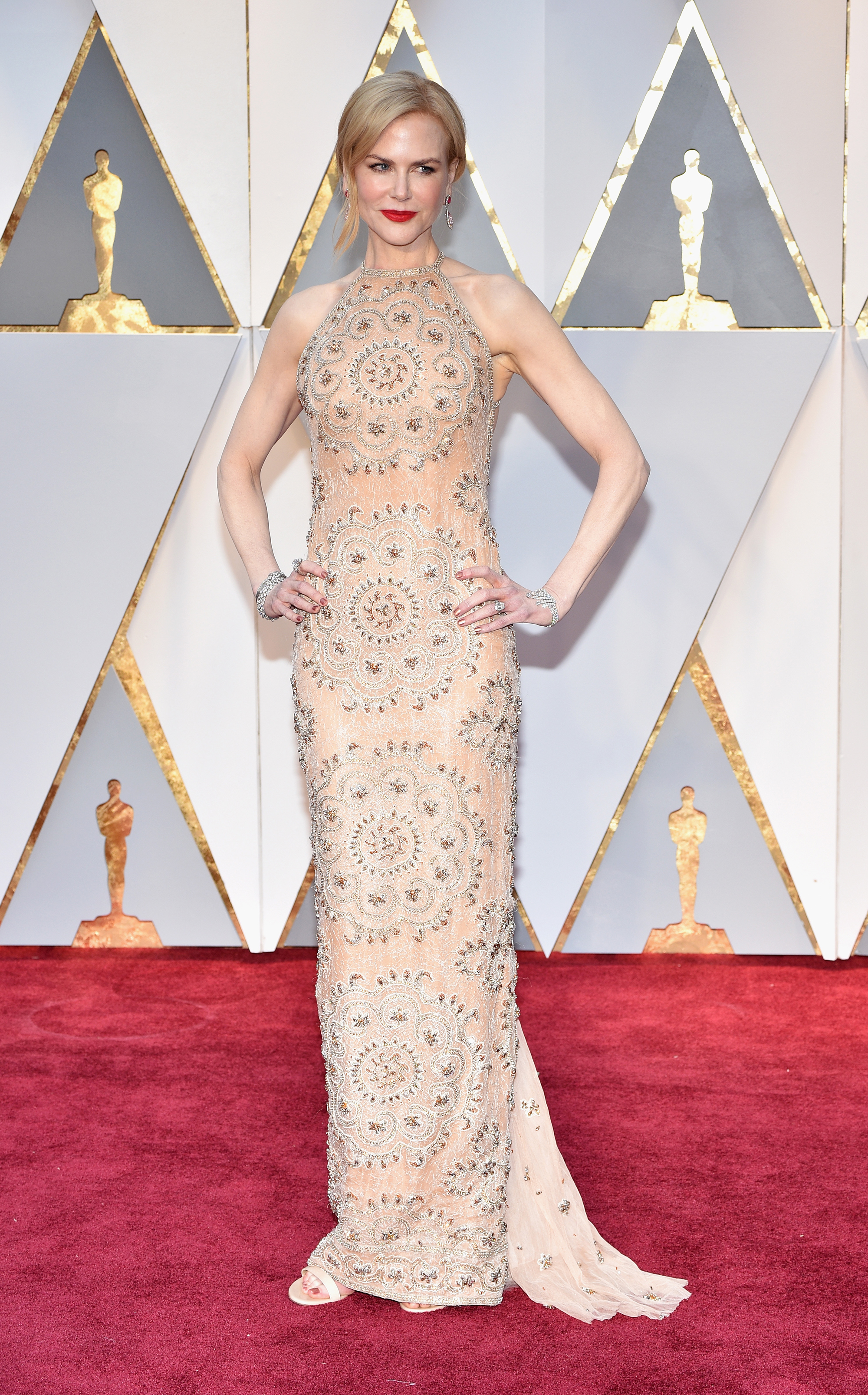 Nicole Kidman on the red carpet for the 89th Oscars, on Feb. 26, 2017 in Hollywood, Calif.