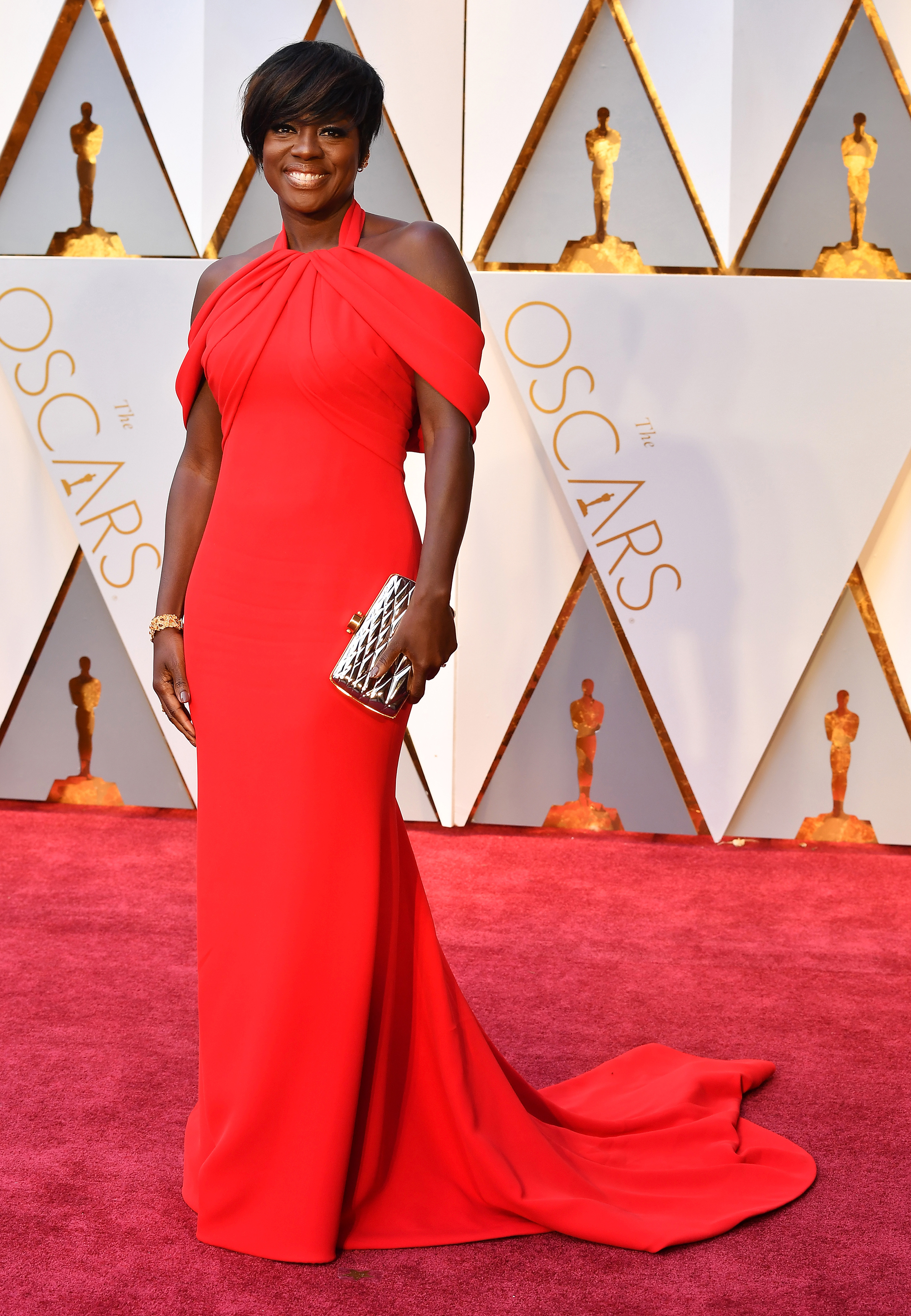 Viola Davis on the red carpet for the 89th Oscars, on Feb. 26, 2017 in Hollywood, Calif.