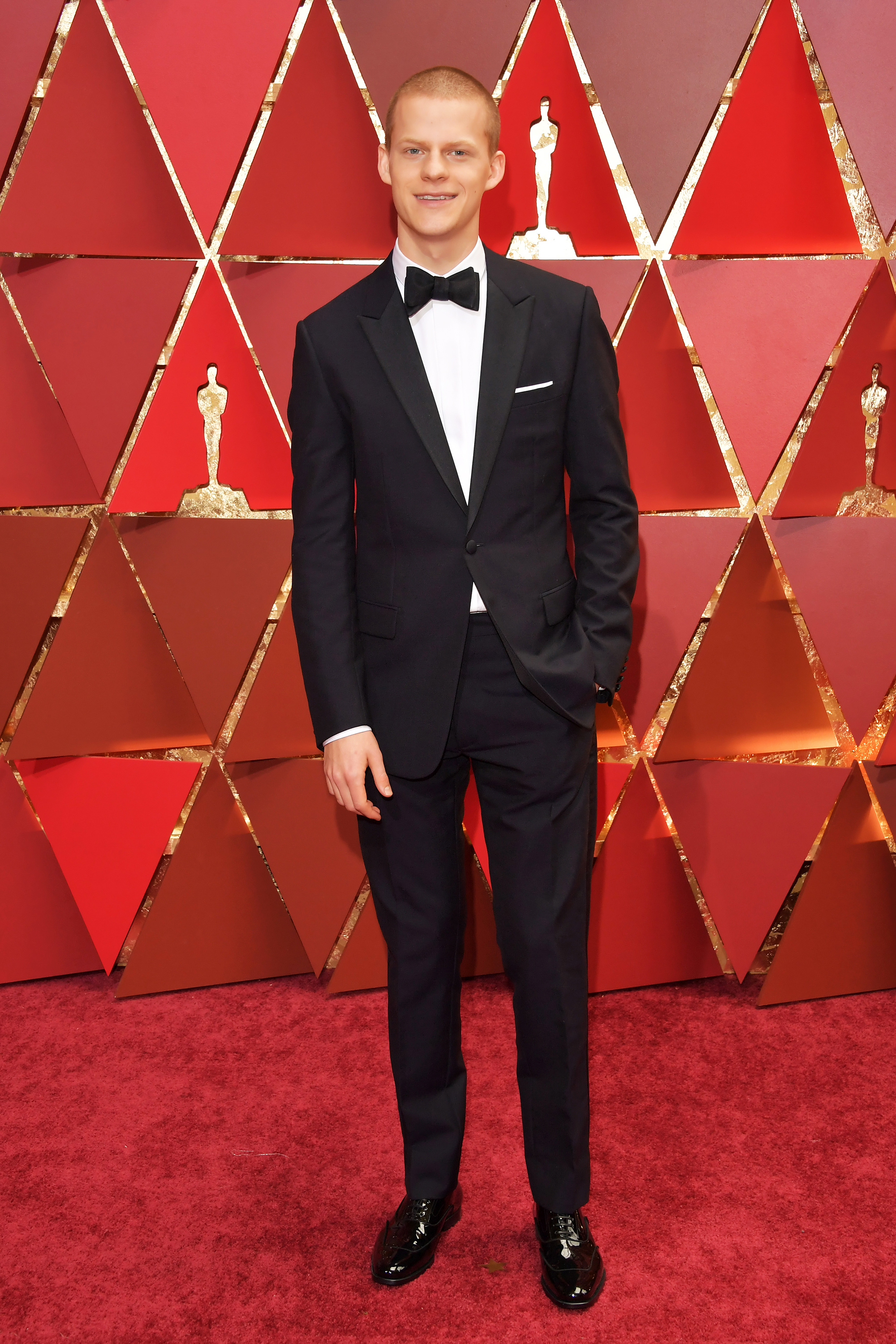 Lucas Hedges on the red carpet for the 89th Oscars, on Feb. 26, 2017 in Hollywood, Calif.