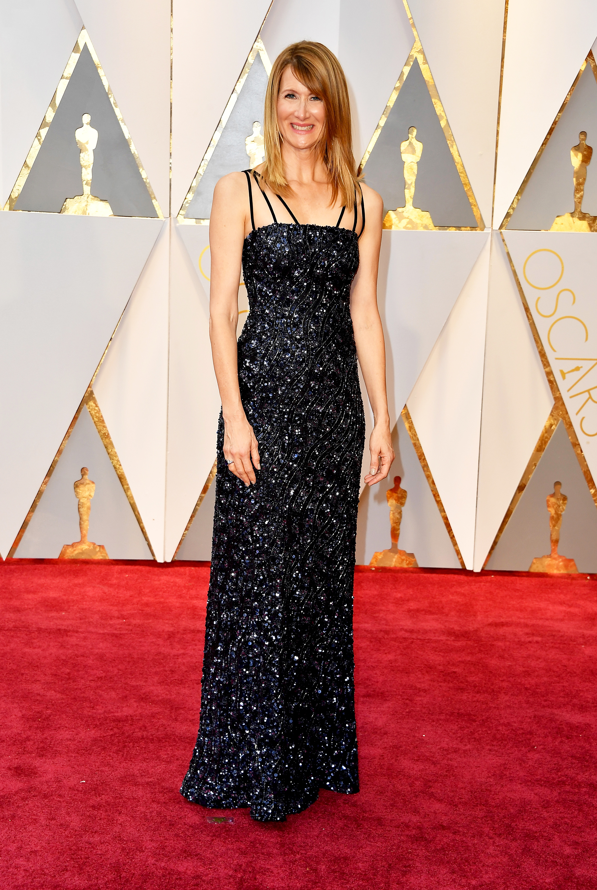 Laura Dern on the red carpet for the 89th Oscars, on Feb. 26, 2017 in Hollywood, Calif.