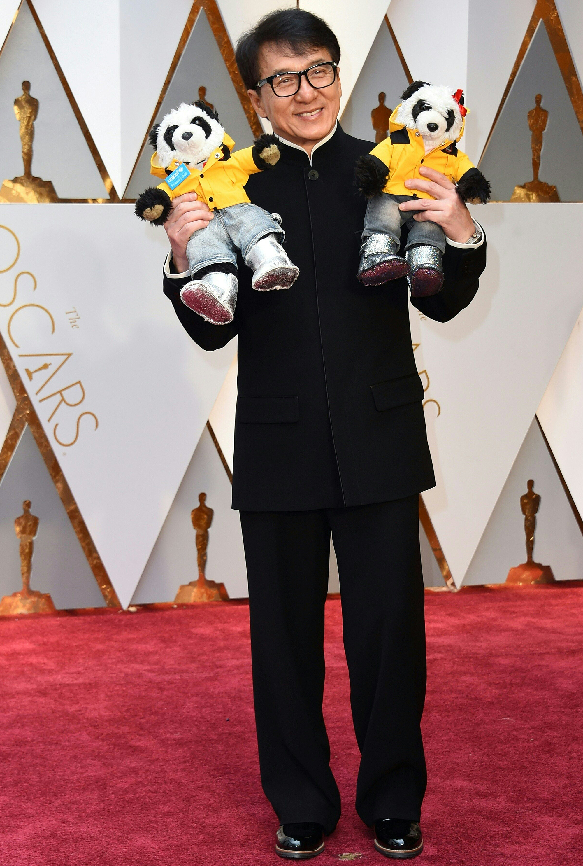 Jackie Chan on the red carpet for the 89th Oscars, on Feb. 26, 2017 in Hollywood, Calif.