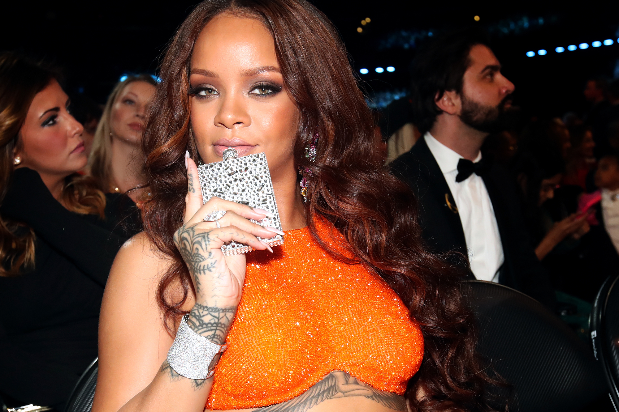 Rihanna during the 59th GRAMMY Awards at STAPLES Center, on Feb. 12, 2017 in Los Angeles.