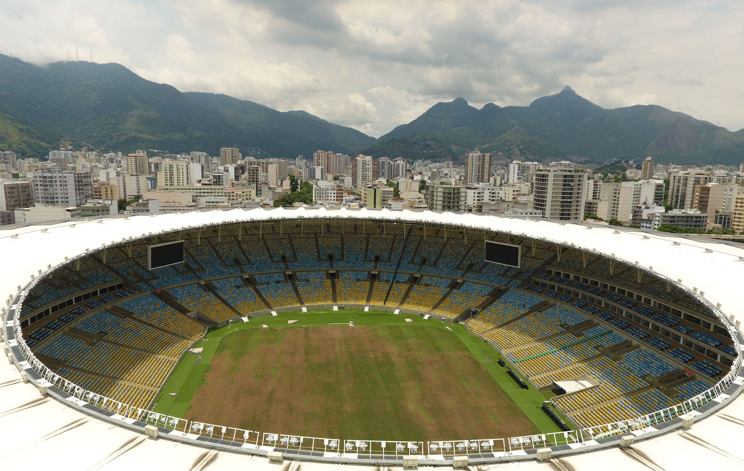 View of the world-famous Maracana Stadium in Rio de Janeiro on Jan.18, 2017.