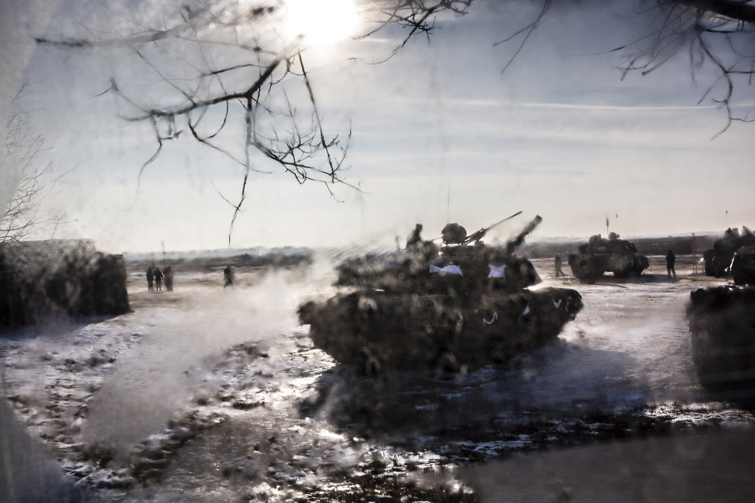 Tanks and troops from the U.S. 3rd Armored Brigade deploy to Poland in January to stand watch against Russia.