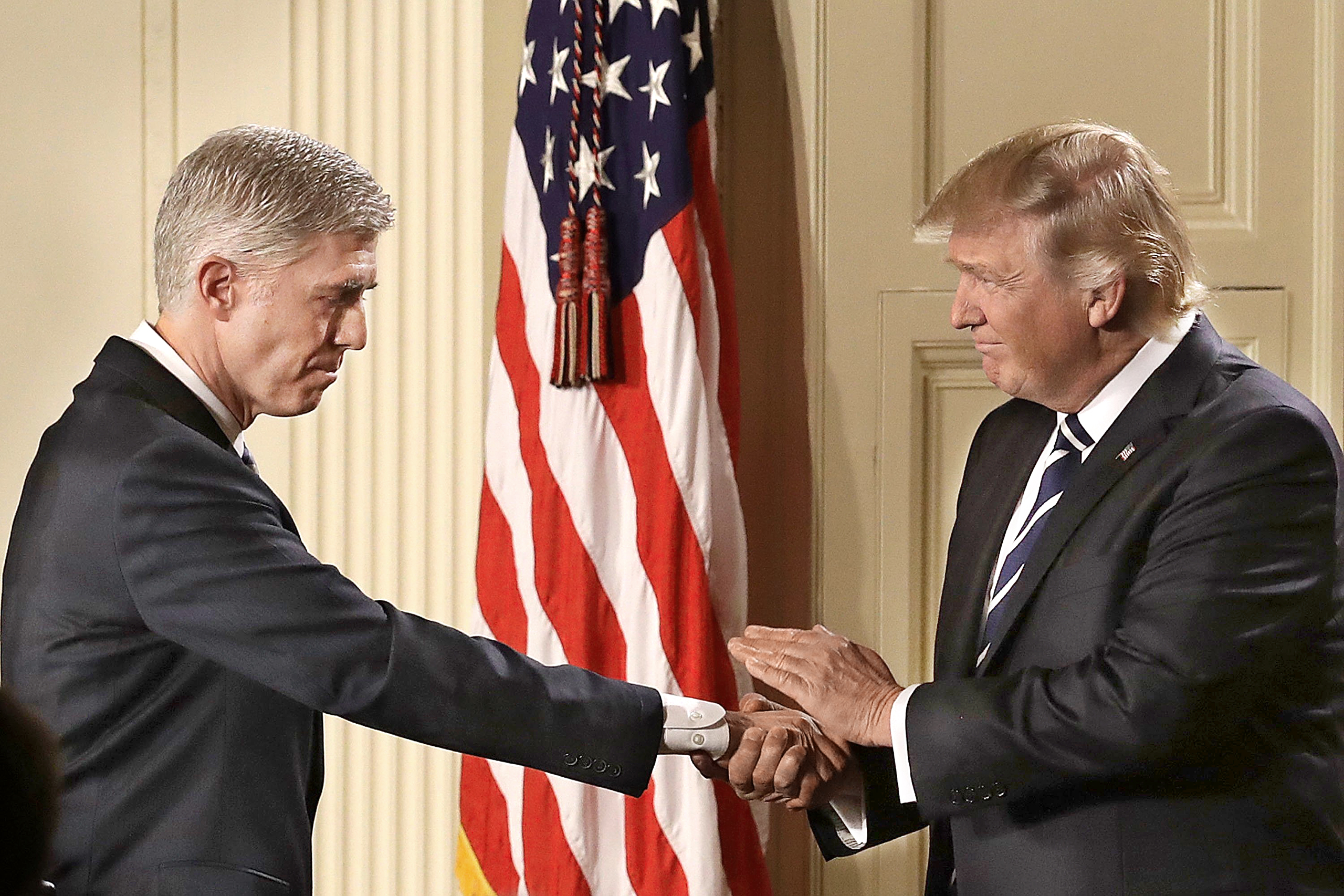 resident Trump announces Gorsuch as his nominee to the Supreme Court on Jan. 31