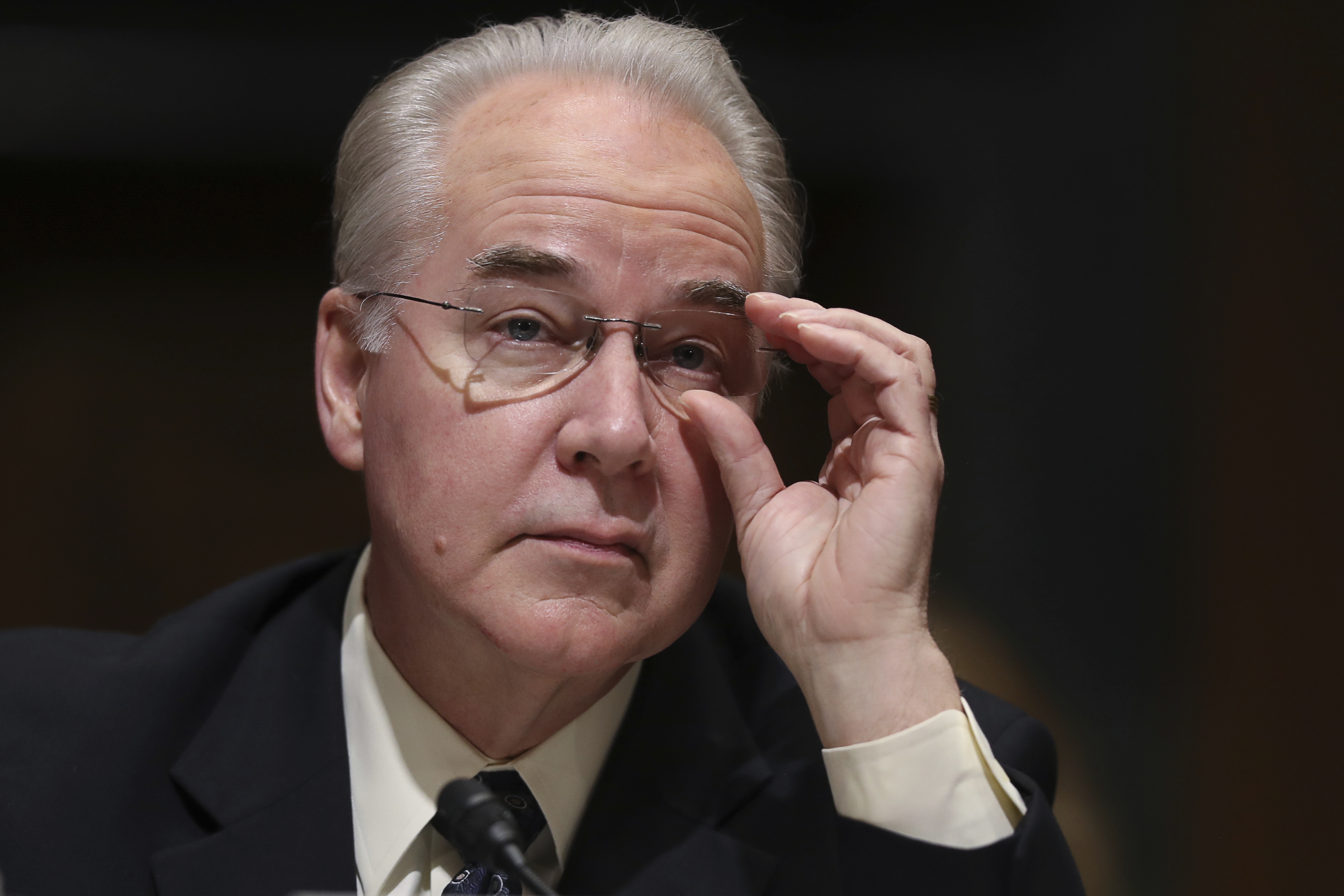 This Jan. 24, 2017 file photo shows Health and Human Services Secretary-designate, Rep. Tom Price, R-Ga. in Capitol Hill, Washington