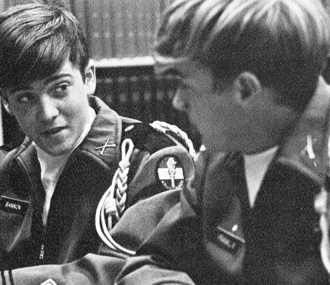 Military Court; Bannon (left), Senior Year 1972. Benedictine High School, Richmond, VA.
