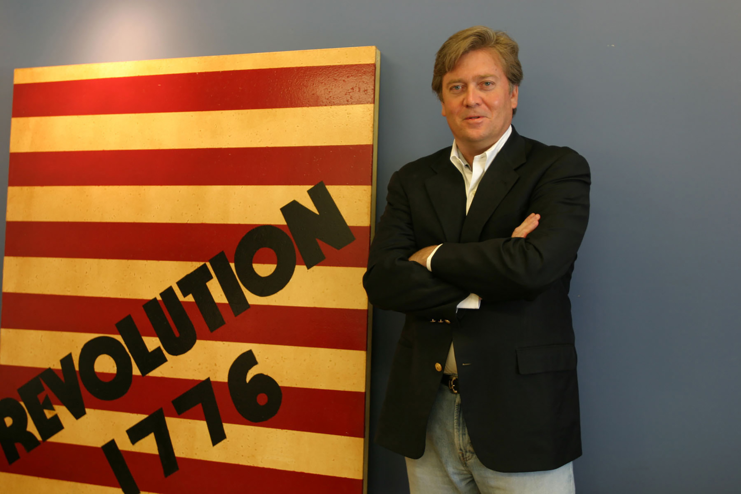 Documentary filmmaker Bannon in his office in Santa Monica, Calif., June 20, 2005.