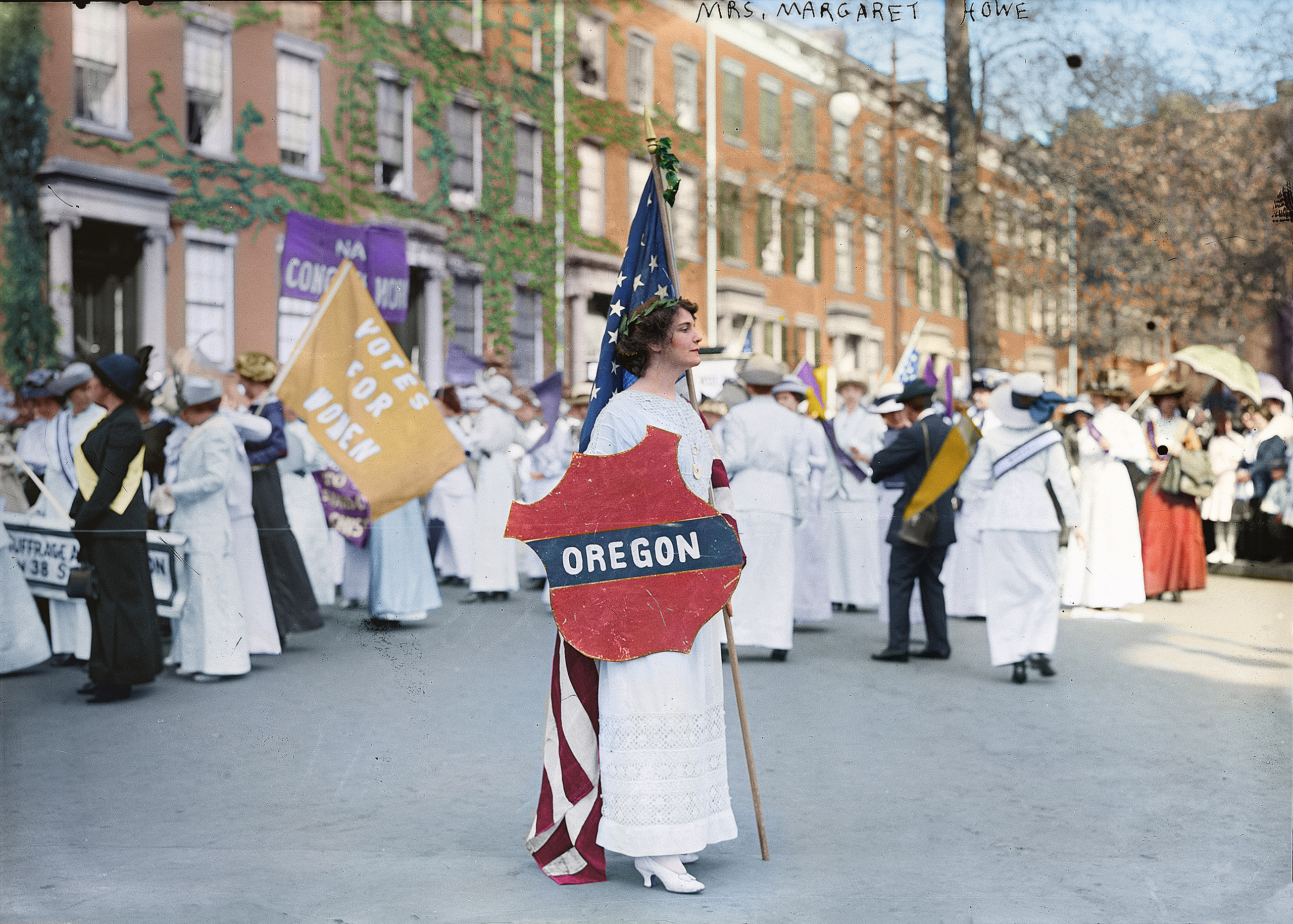 Margaret Vale Howe, a participant in the suffrage parade in Washington, D.C., March 1913.
