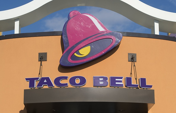 A Taco Bell fast food restaurant in New Carrollton, Maryland