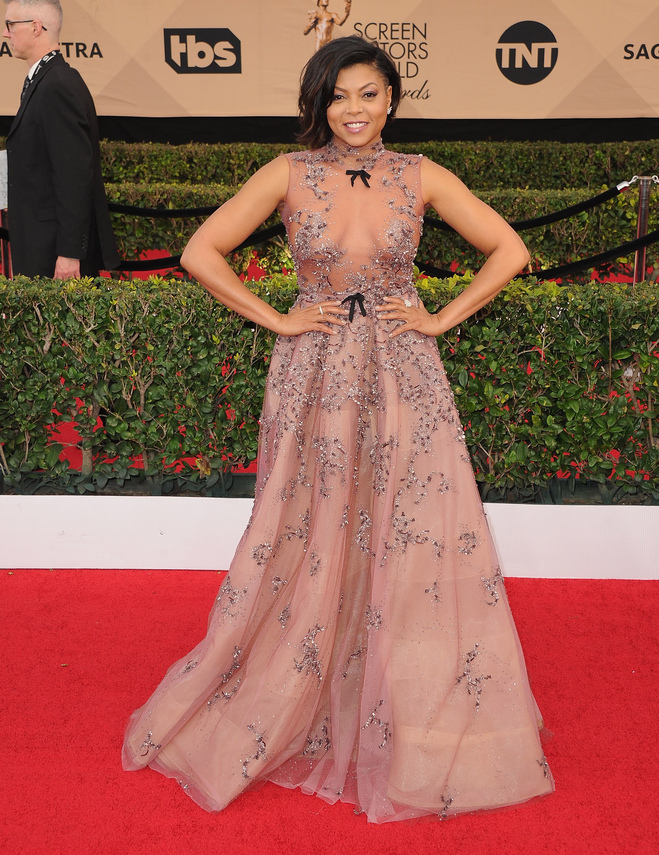 LOS ANGELES, CA - JANUARY 29:  Actress Taraji P. Henson arrives at the 23rd Annual Screen Actors Guild Awards at The Shrine Expo Hall on January 29, 2017 in Los Angeles, California.  (Photo by Jon Kopaloff/FilmMagic)