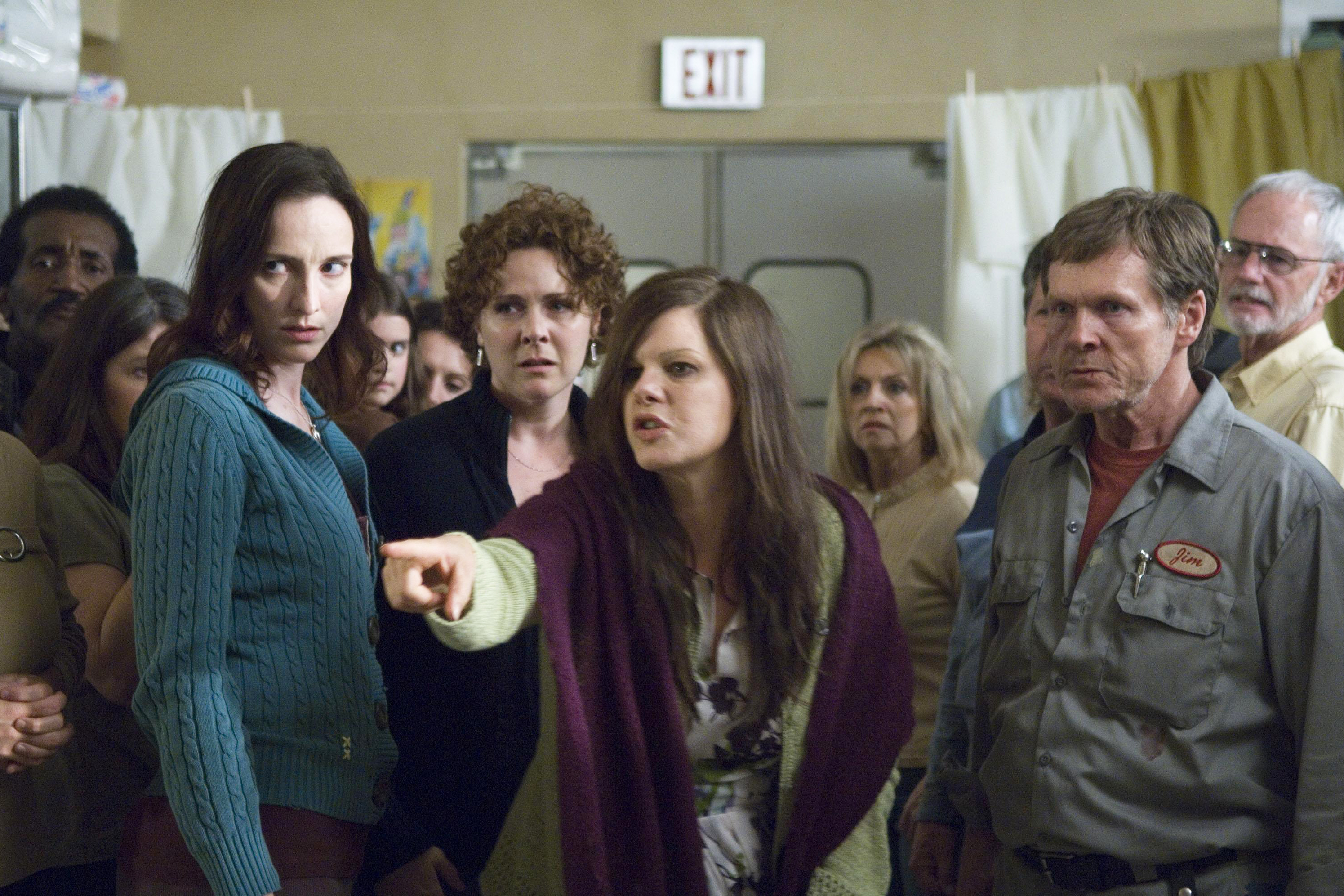 The Mist (2007); A TV series based on Stephen King's horror novella is coming to Spike in 2017. The movie starred Marcia Gay Haden (center) as a religious fanatic.