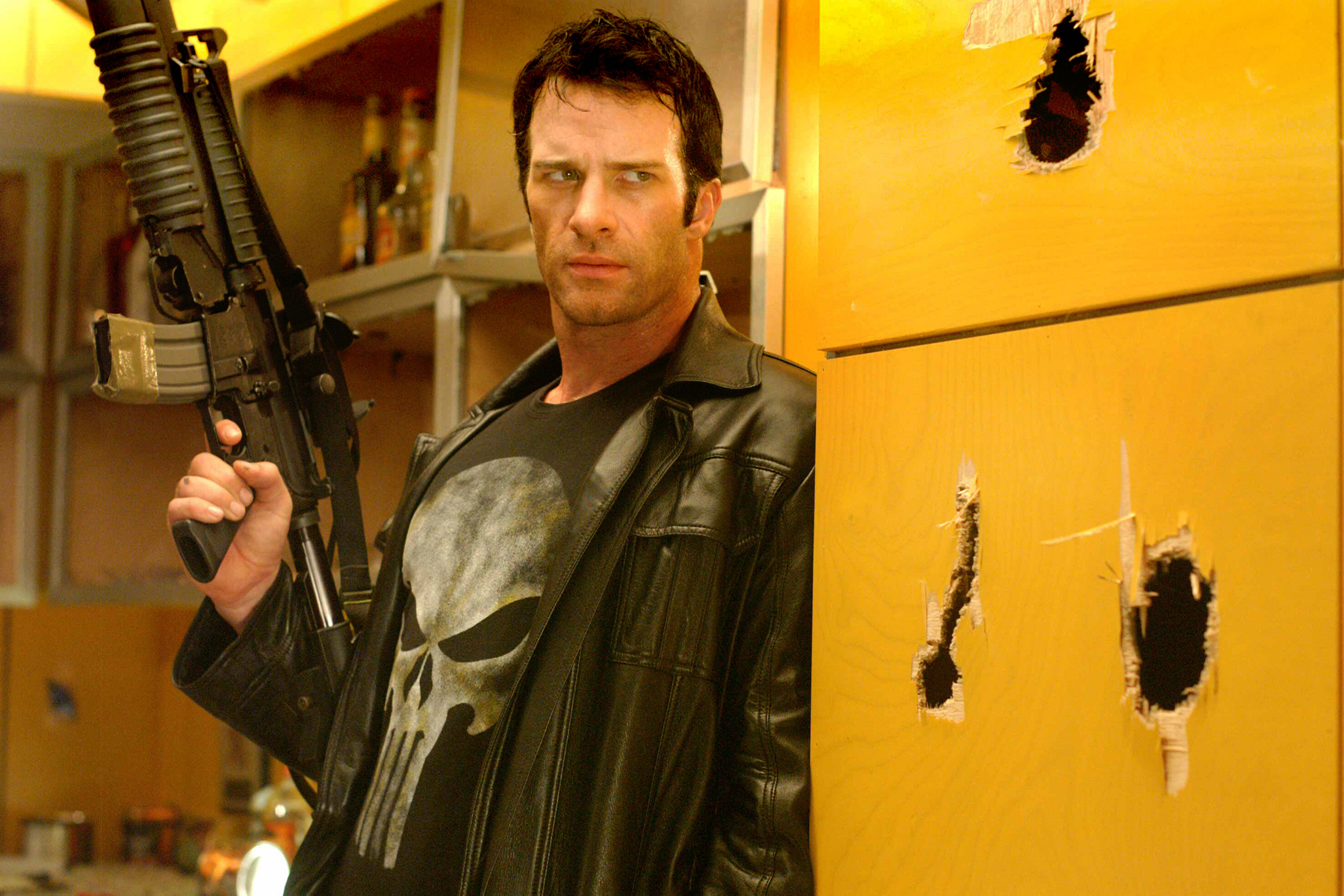 The Punisher (2004); A TV vehicle for the Marvel character (played by Thomas Jane in the movie) is coming to Netflix in 2017, though an exact release date has not yet been announced. It will star Jon Bernthal (not pictured).