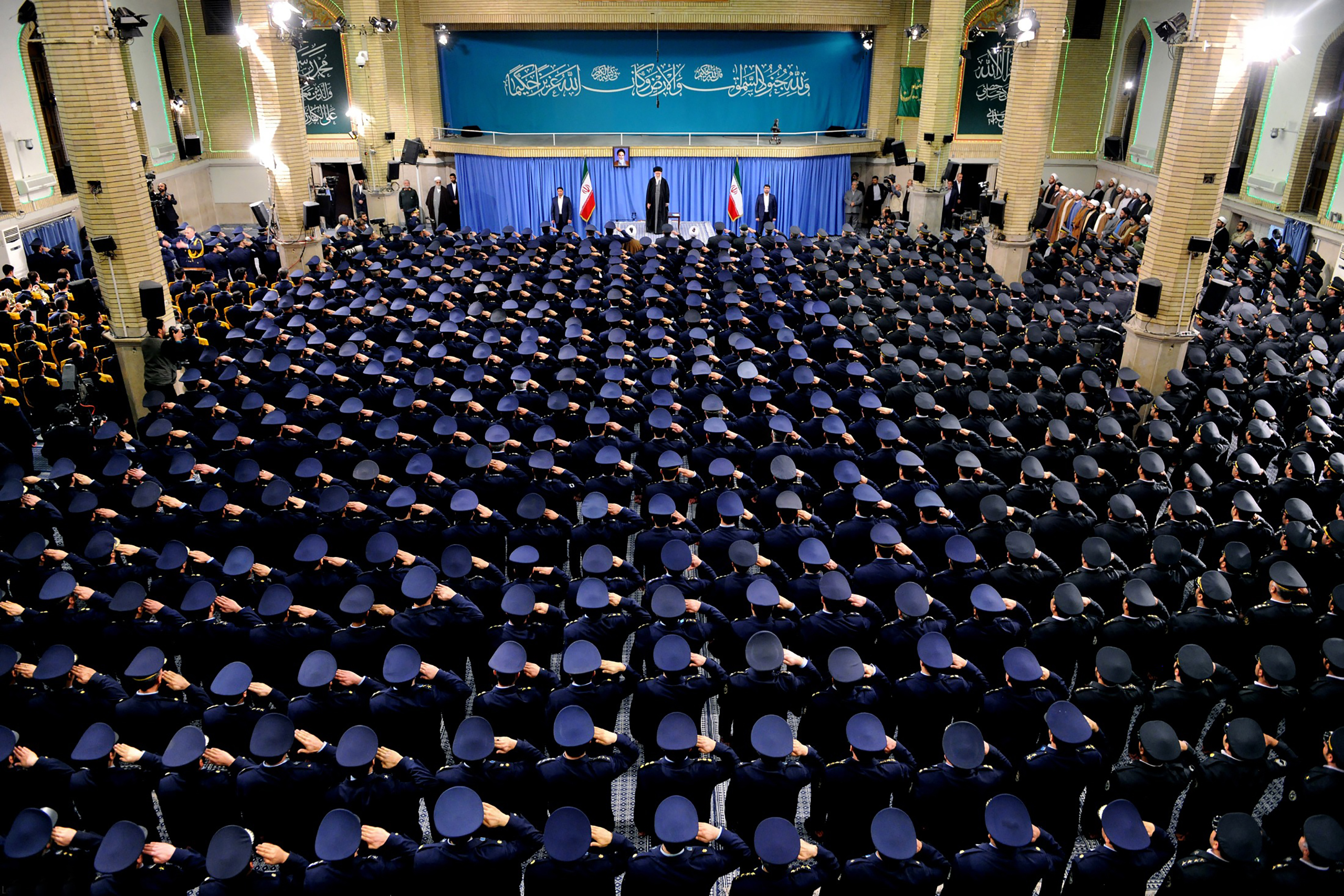 """In a speech to the military, Ayatullah Khamenei said President Trump had shown America's """"real face"""""""