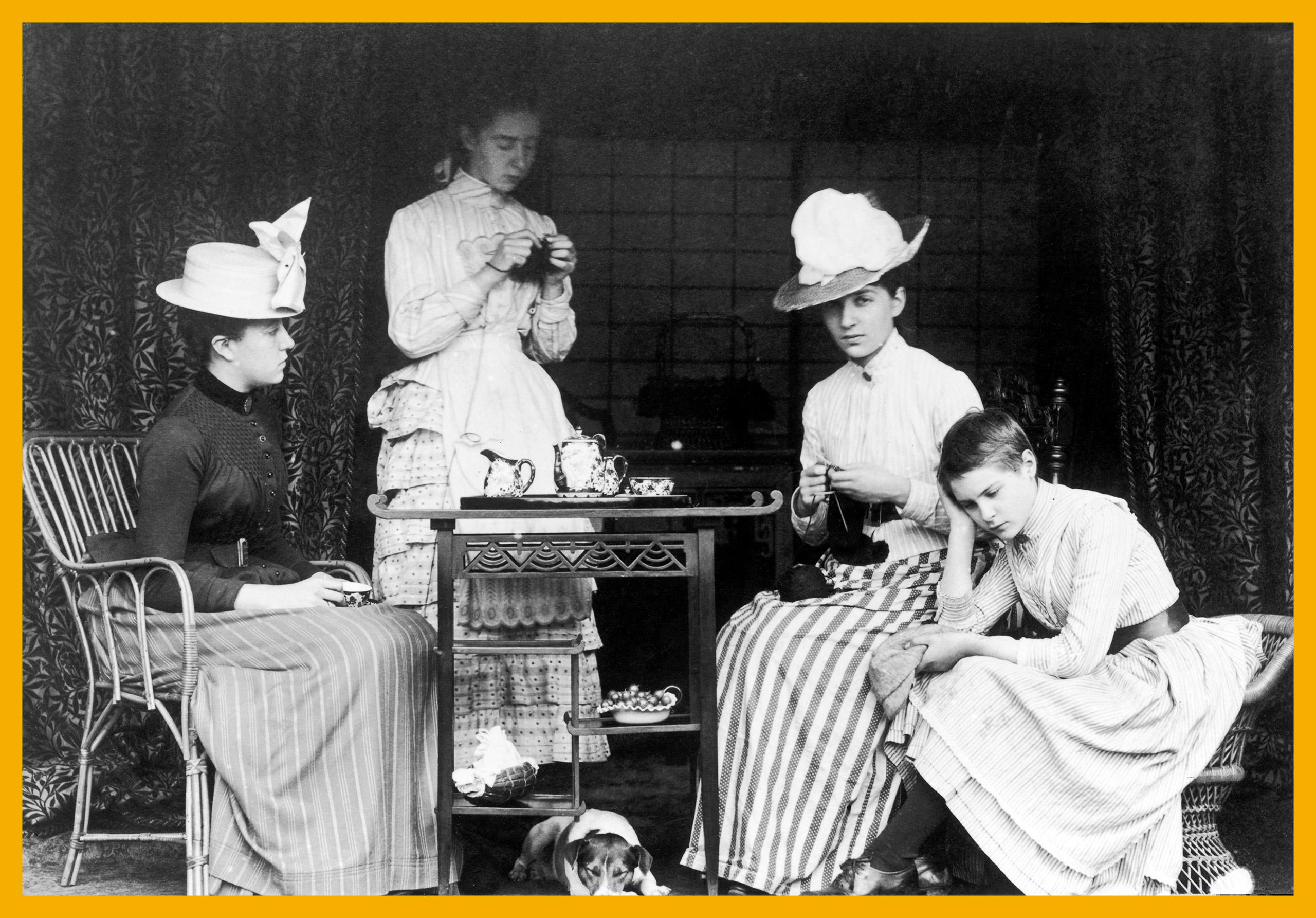 Victorian tea party, circa 1895.