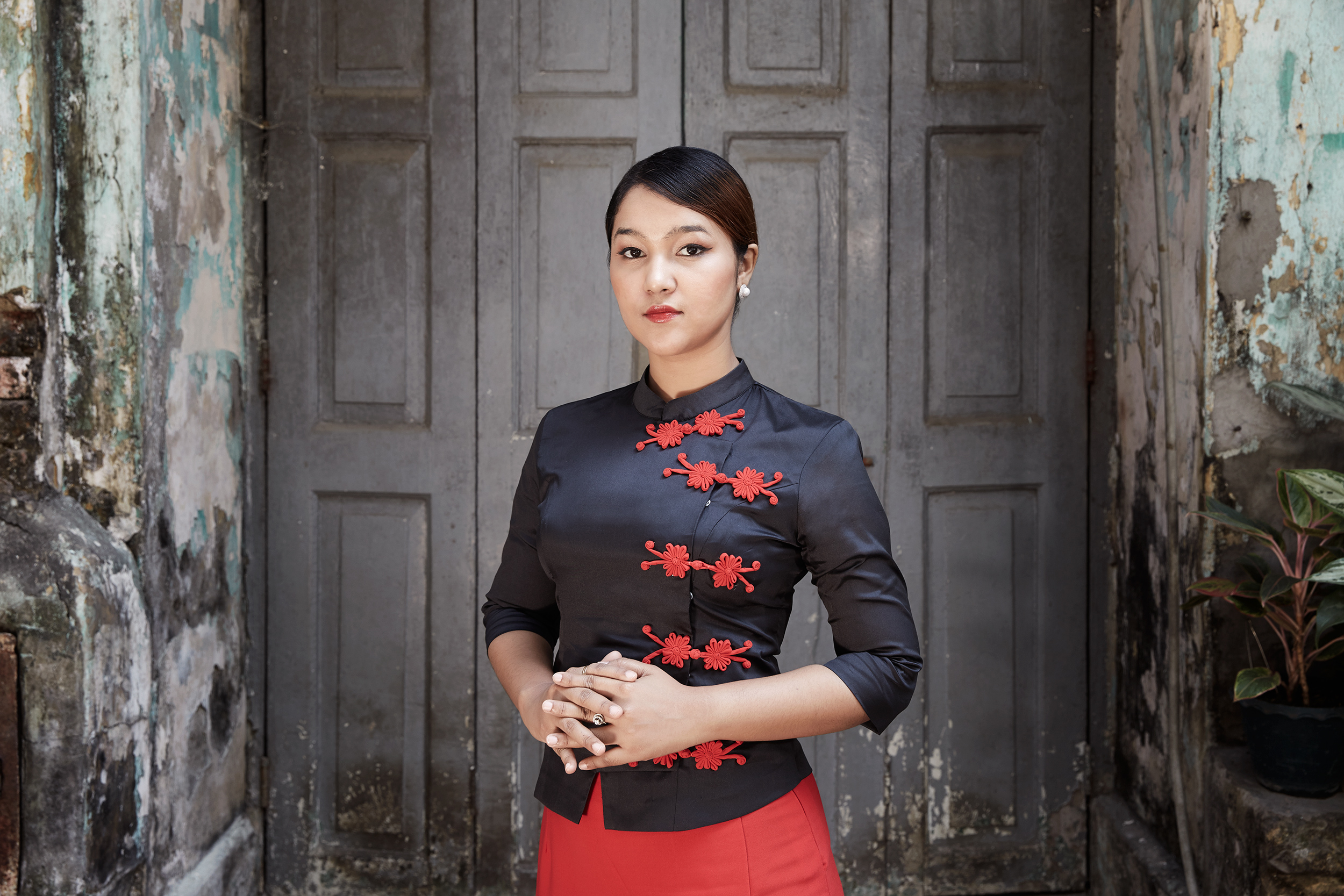 Wai Wai Nu photographed in Yangon, Myanmar on Feb. 13, 2017.